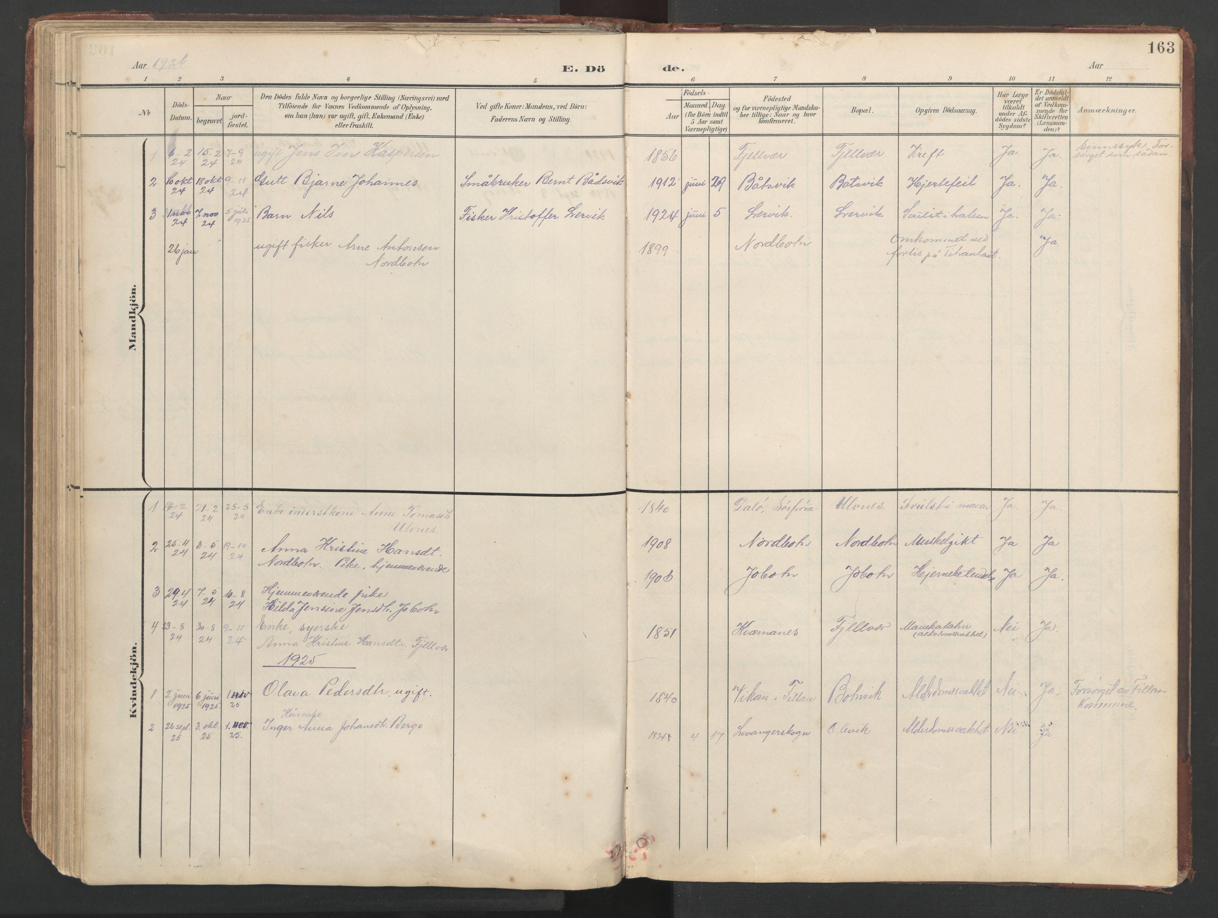 SAT, Ministerialprotokoller, klokkerbøker og fødselsregistre - Sør-Trøndelag, 638/L0571: Klokkerbok nr. 638C03, 1901-1930, s. 163