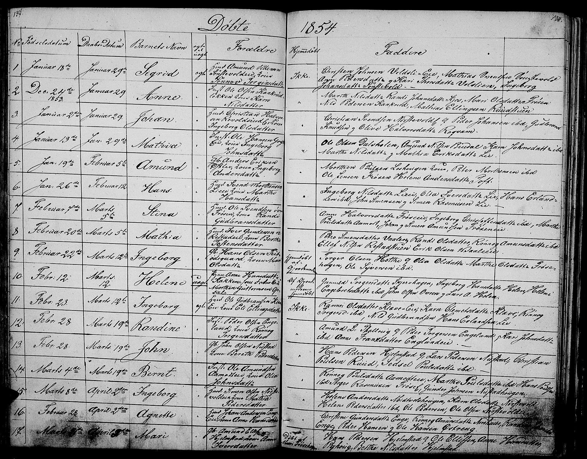 SAH, Gausdal prestekontor, Klokkerbok nr. 3, 1829-1864, s. 137-138