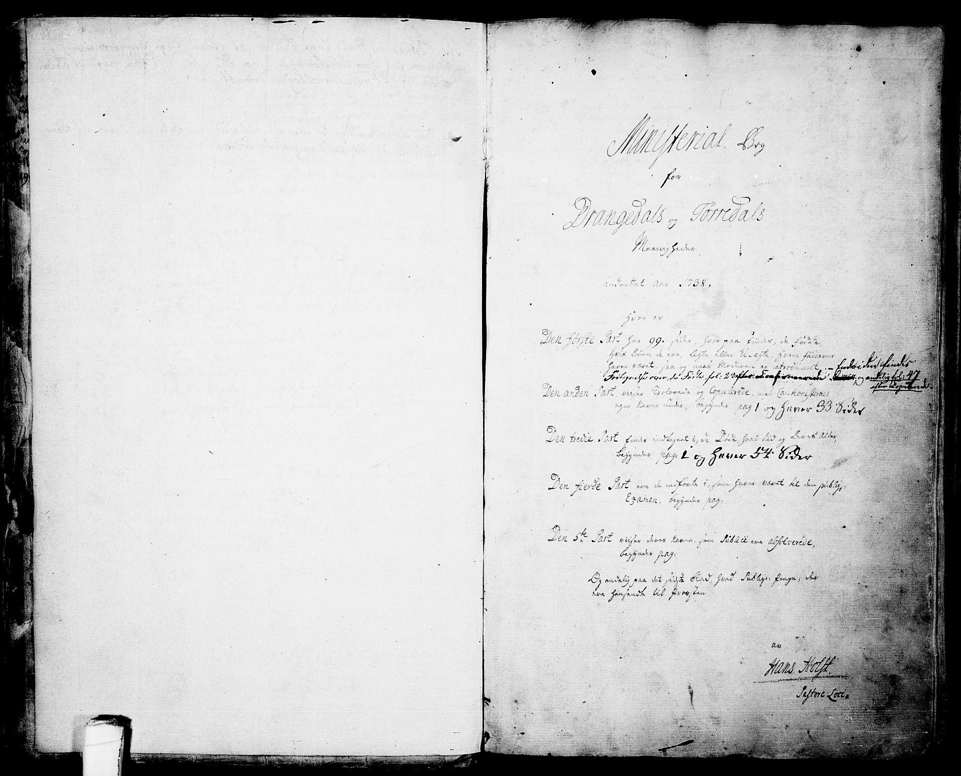 SAKO, Drangedal kirkebøker, F/Fa/L0001: Ministerialbok nr. 1, 1697-1767