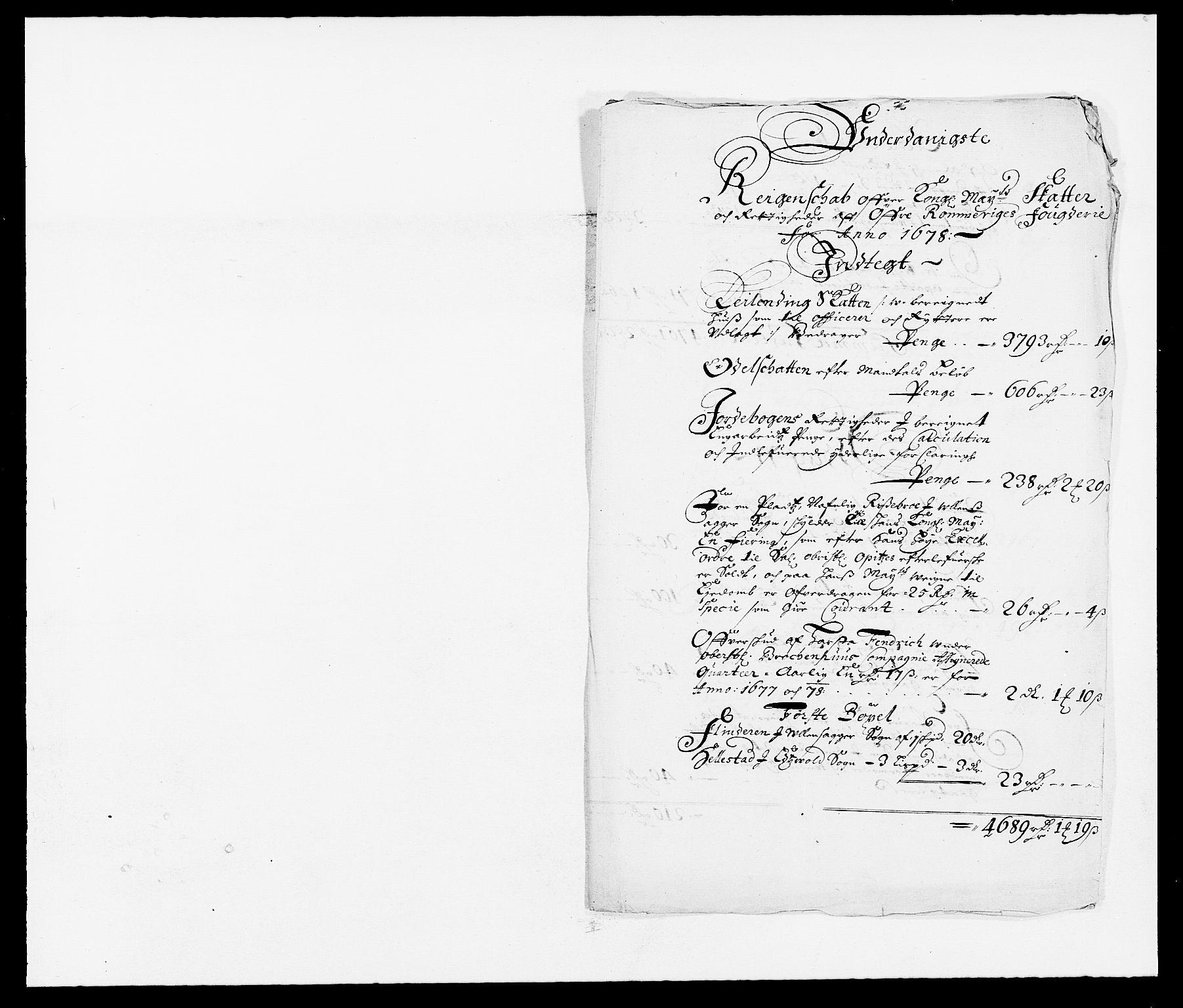 RA, Rentekammeret inntil 1814, Reviderte regnskaper, Fogderegnskap, R12/L0693: Fogderegnskap Øvre Romerike, 1678-1679, s. 145