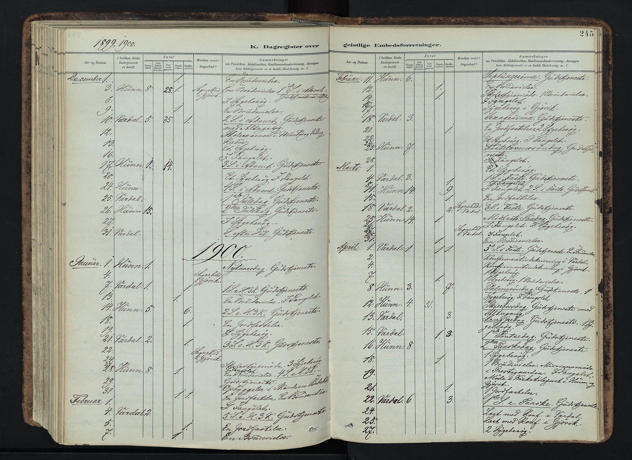 SAH, Vardal prestekontor, H/Ha/Haa/L0019: Ministerialbok nr. 19, 1893-1907, s. 245