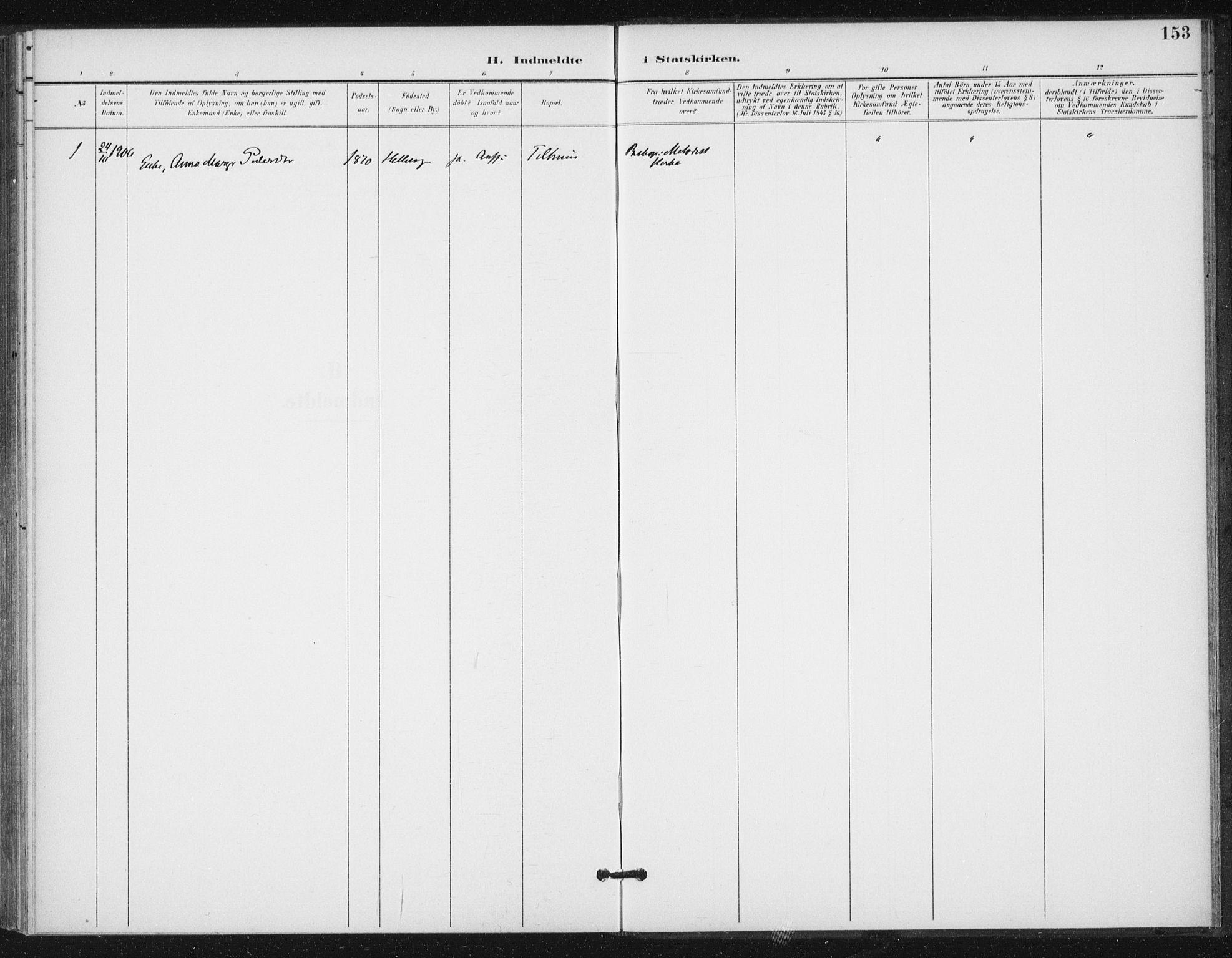 SAT, Ministerialprotokoller, klokkerbøker og fødselsregistre - Sør-Trøndelag, 654/L0664: Ministerialbok nr. 654A02, 1895-1907, s. 153