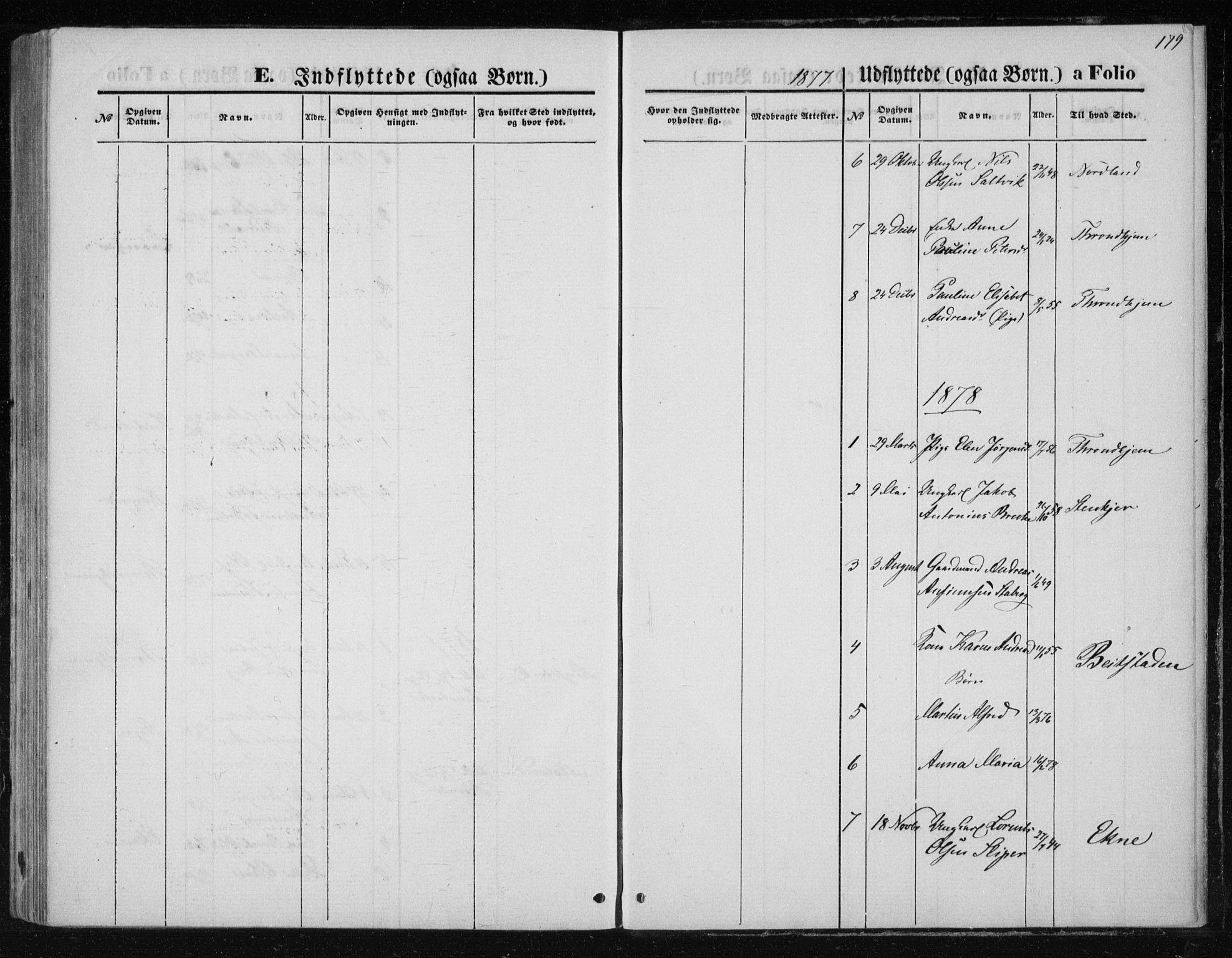SAT, Ministerialprotokoller, klokkerbøker og fødselsregistre - Nord-Trøndelag, 733/L0324: Ministerialbok nr. 733A03, 1870-1883, s. 179