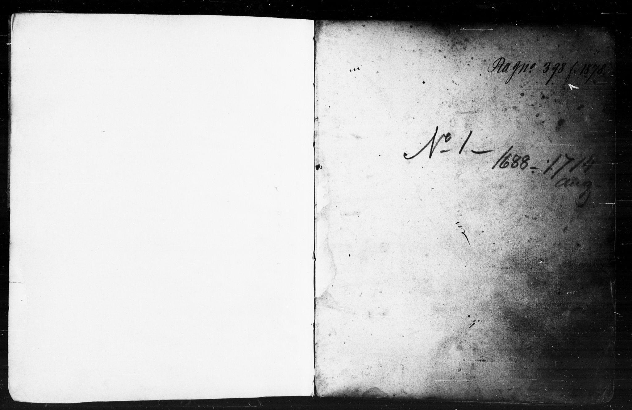 SAST, Domkirken sokneprestkontor, 30/30BB/L0001: Klokkerbok nr. B 1, 1688-1714