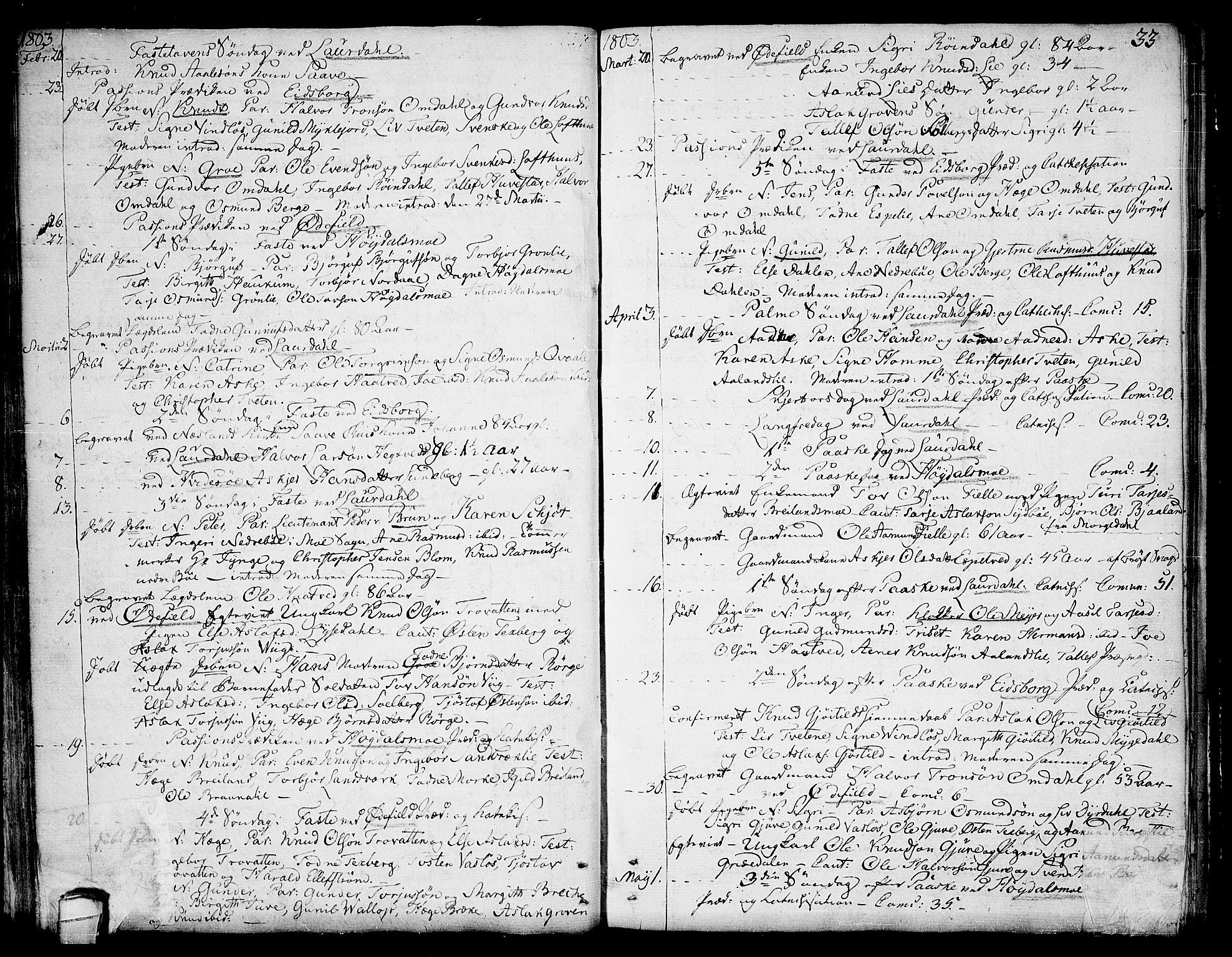SAKO, Lårdal kirkebøker, F/Fa/L0004: Ministerialbok nr. I 4, 1790-1814, s. 33