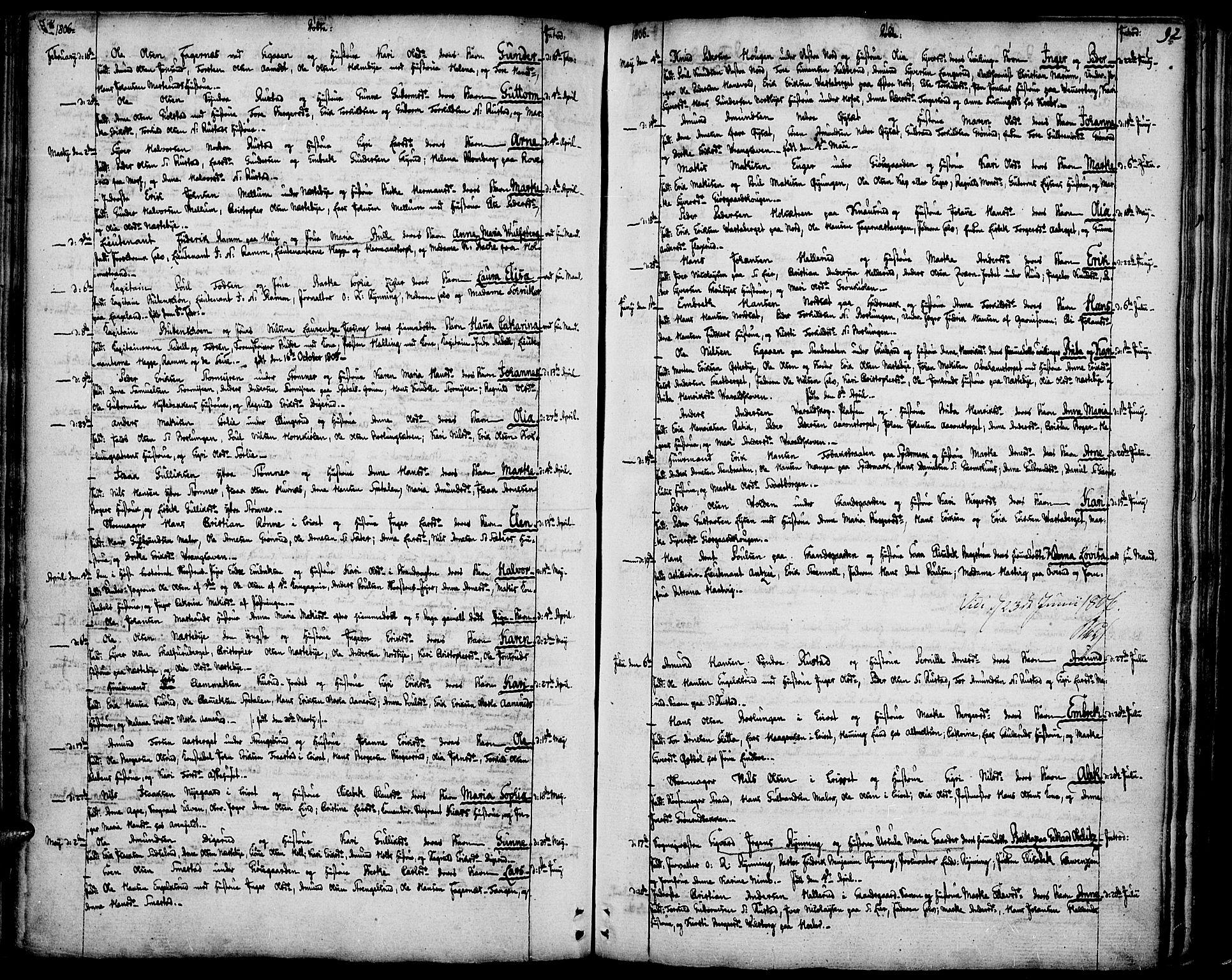 SAH, Vinger prestekontor, Ministerialbok nr. 5, 1772-1813, s. 92