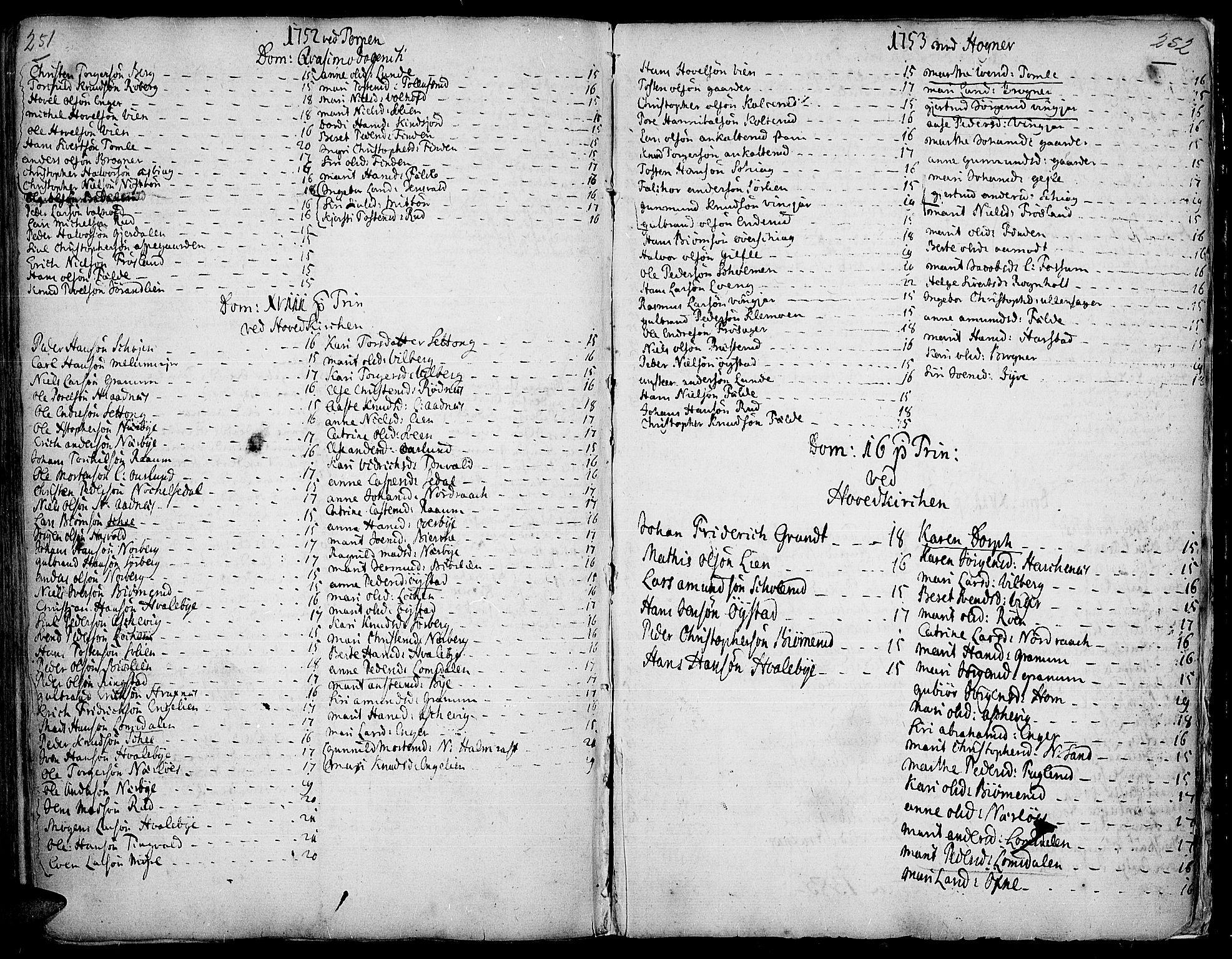 SAH, Land prestekontor, Ministerialbok nr. 2, 1733-1764, s. 251-252