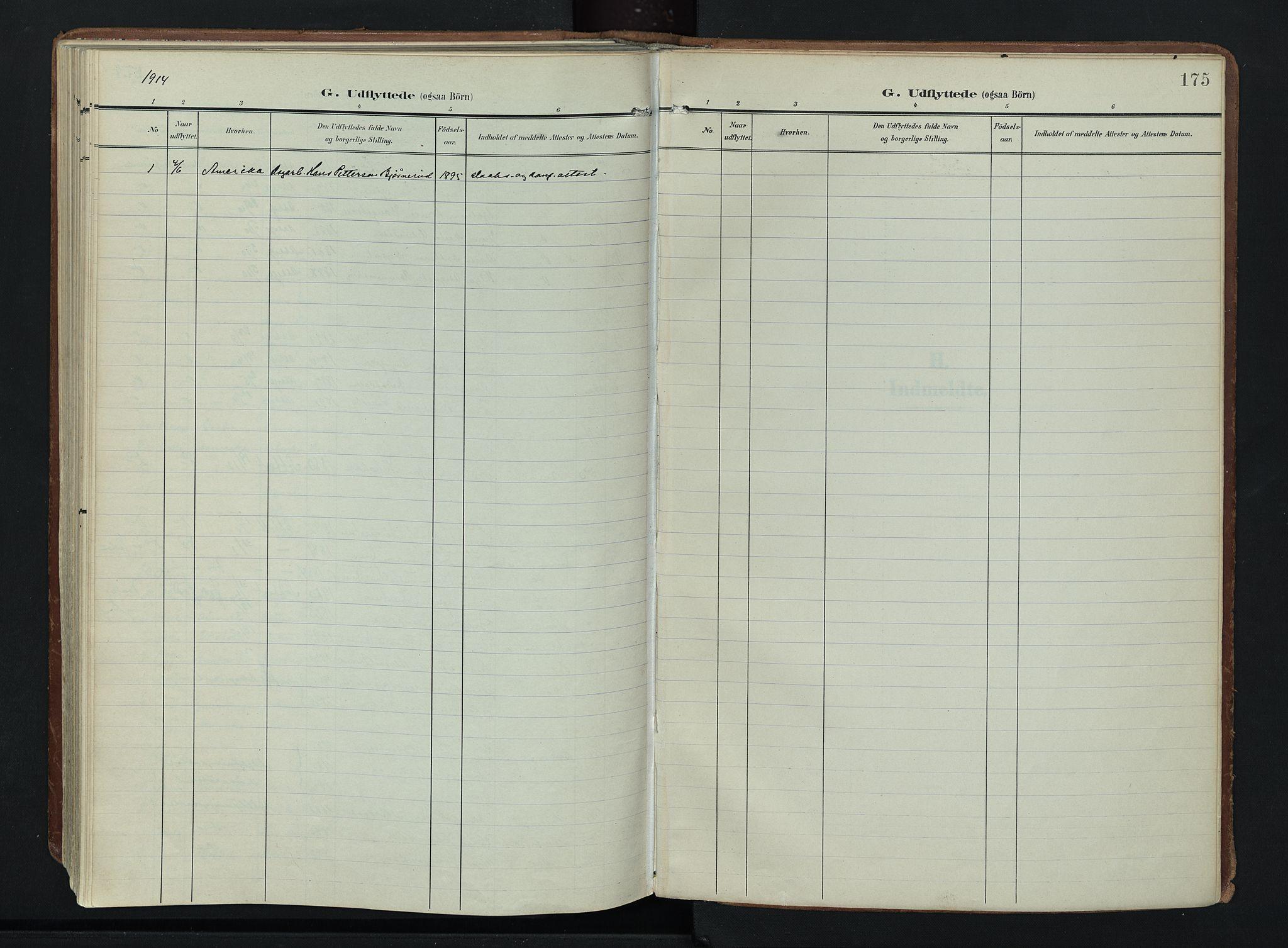 SAH, Søndre Land prestekontor, K/L0007: Ministerialbok nr. 7, 1905-1914, s. 175