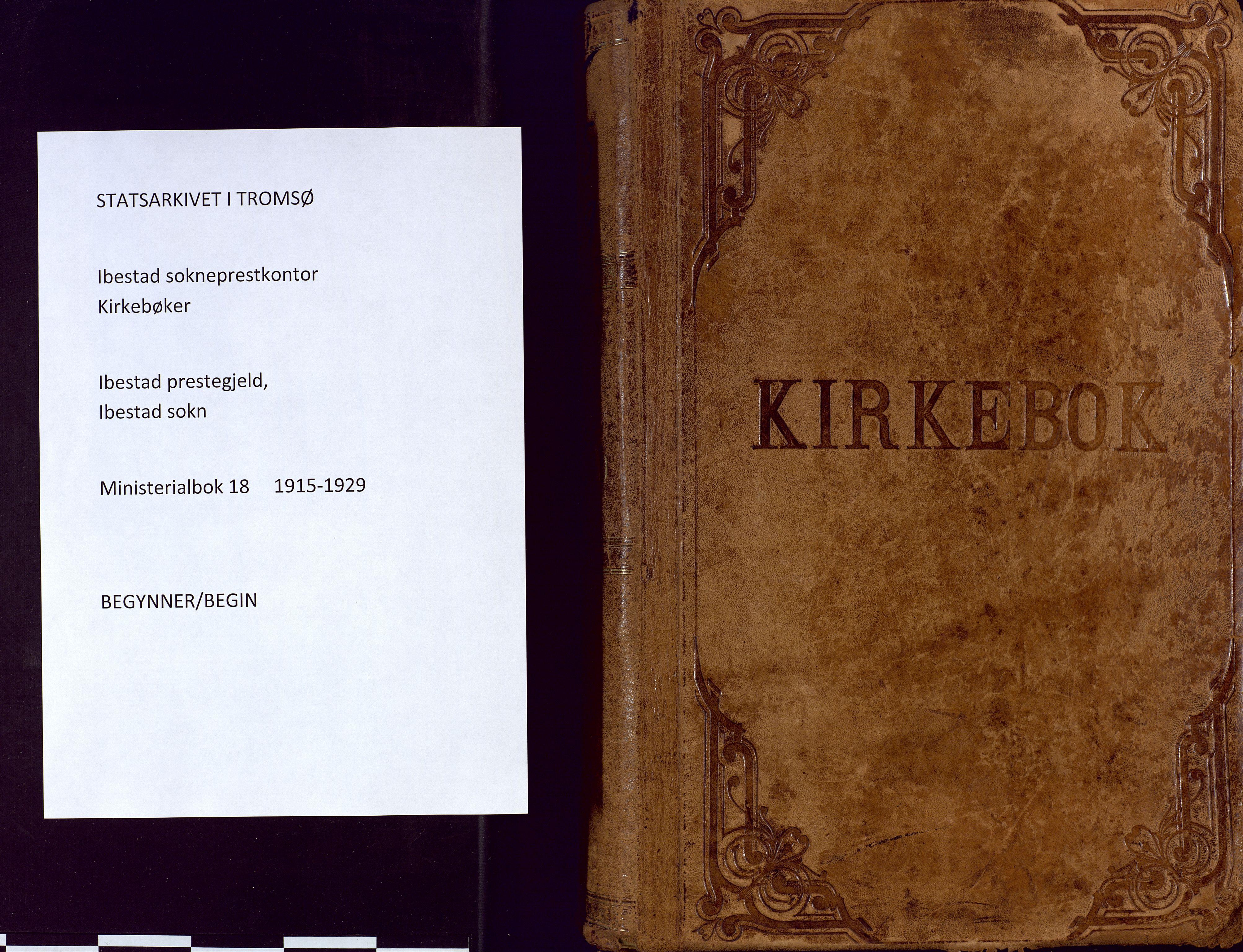 SATØ, Ibestad sokneprestembete, Ministerialbok nr. 18, 1915-1929