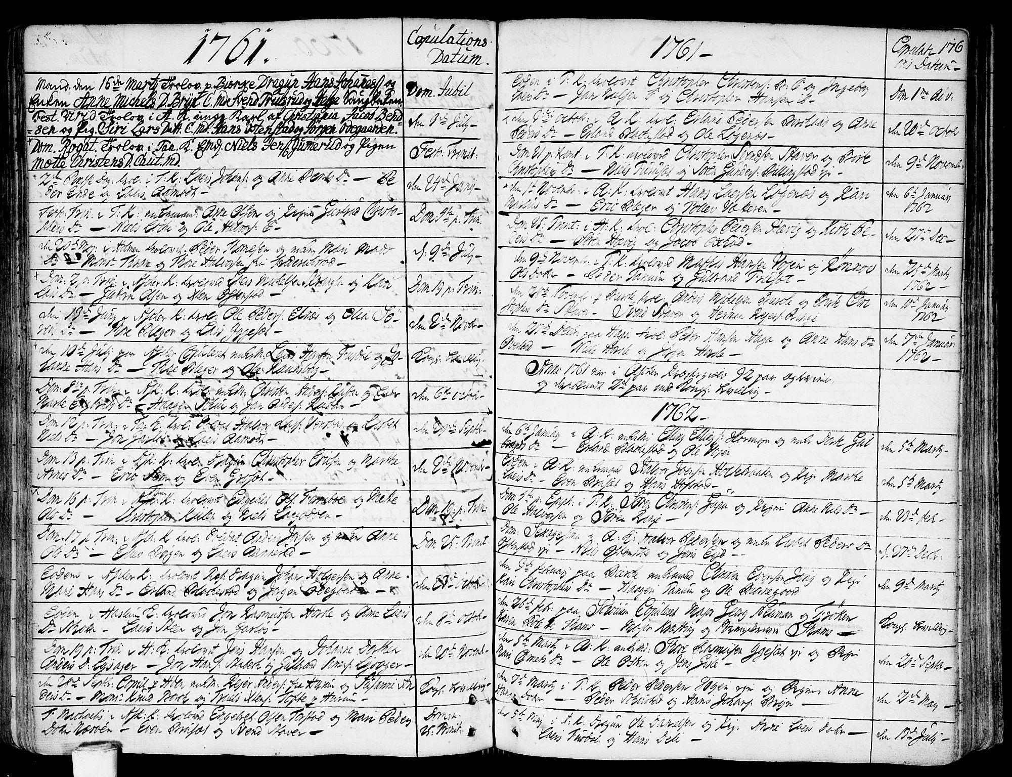 SAO, Asker prestekontor Kirkebøker, F/Fa/L0002: Ministerialbok nr. I 2, 1733-1766, s. 176