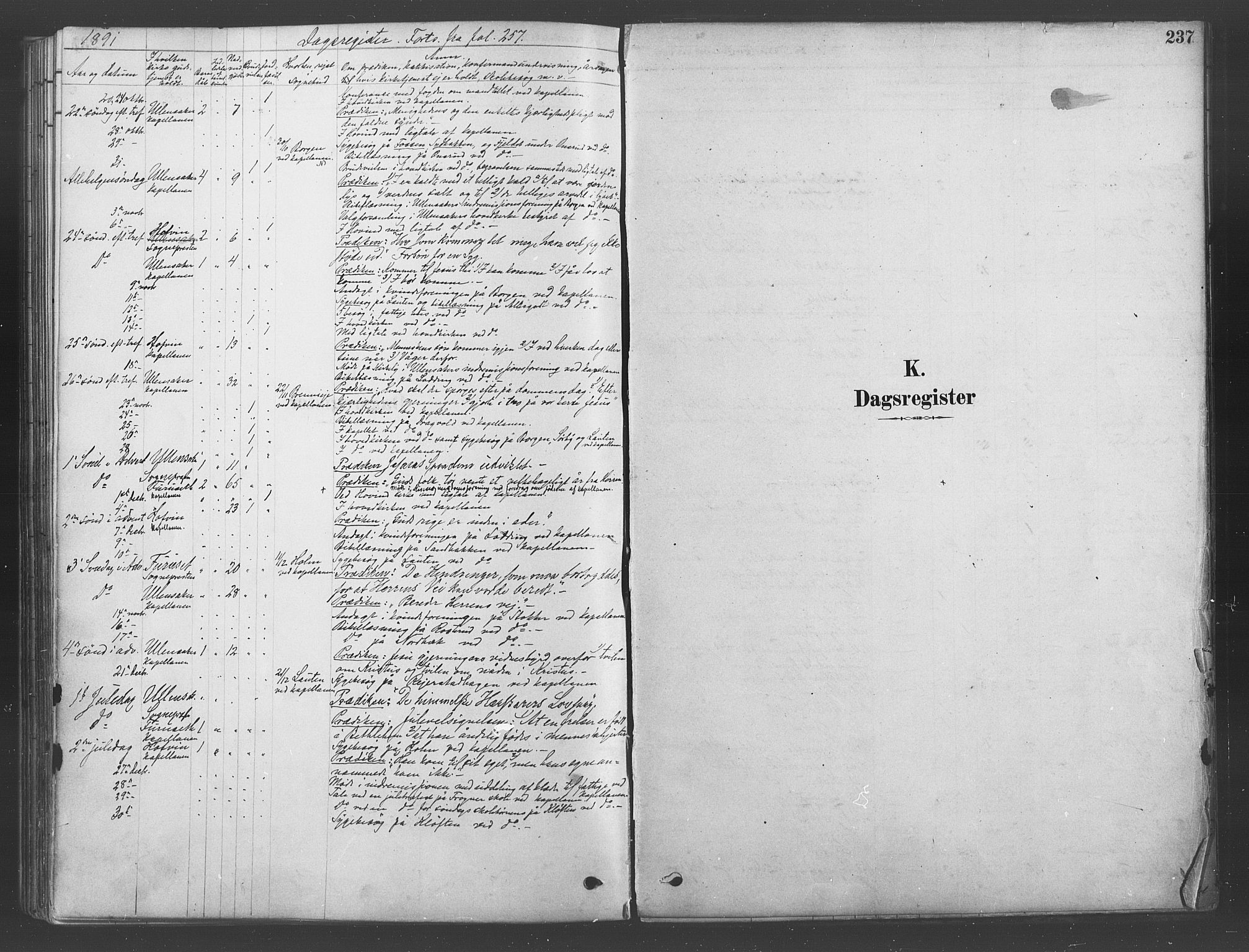 SAO, Ullensaker prestekontor Kirkebøker, F/Fb/L0001: Ministerialbok nr. II 1, 1878-1893, s. 237