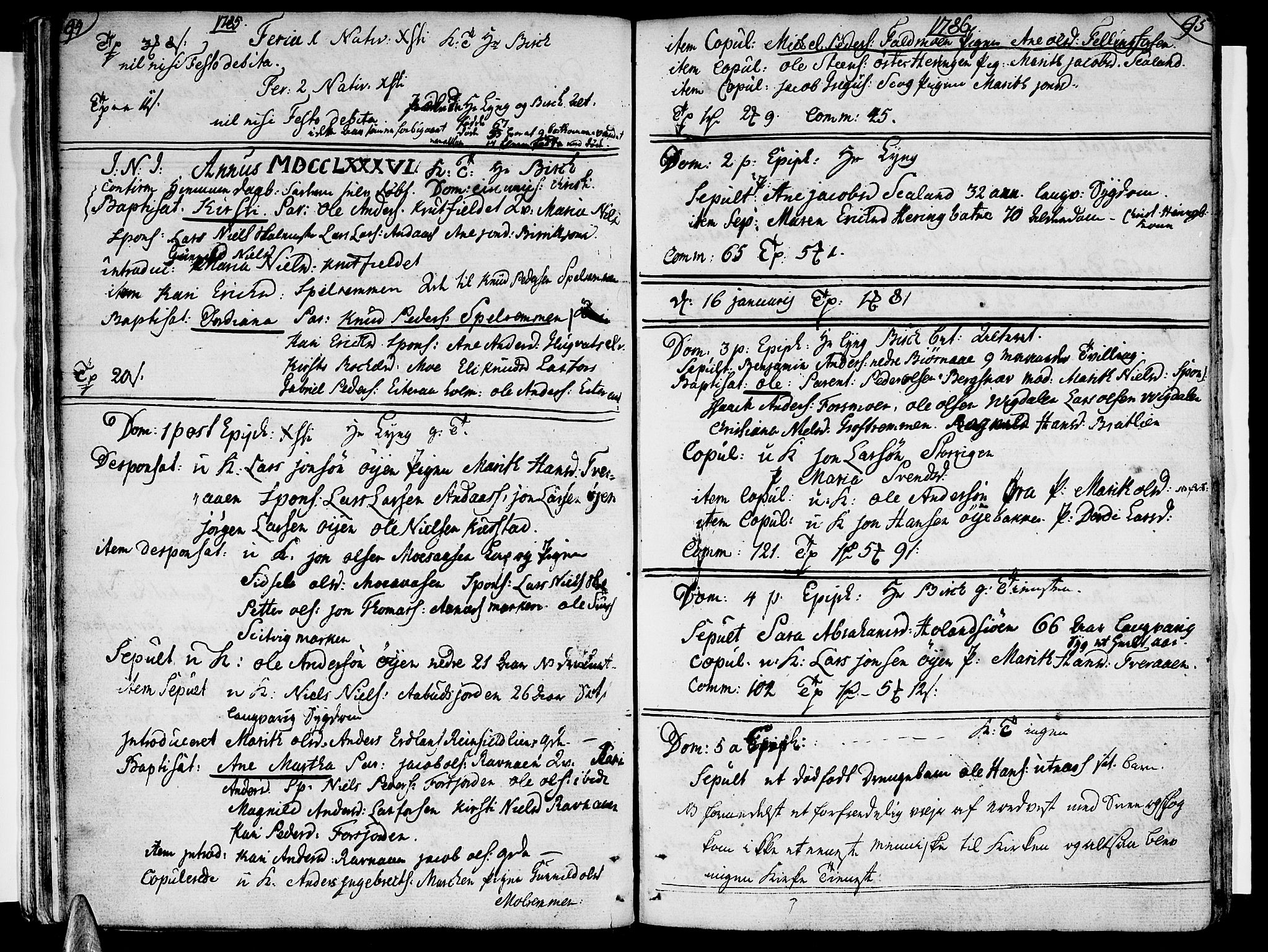 SAT, Ministerialprotokoller, klokkerbøker og fødselsregistre - Nordland, 820/L0286: Ministerialbok nr. 820A07, 1780-1799, s. 94-95
