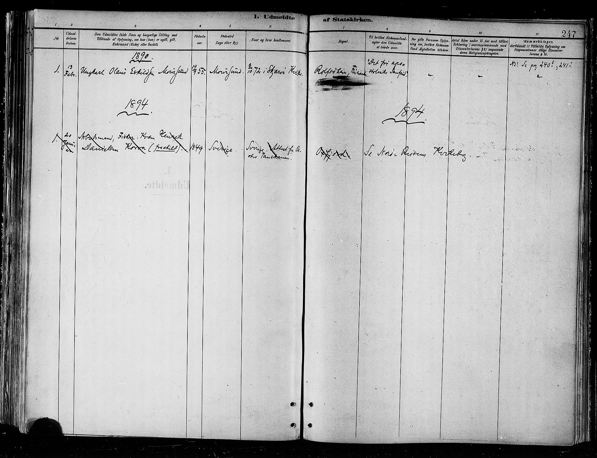 SATØ, Skjervøy sokneprestkontor, H/Ha/Haa/L0010kirke: Ministerialbok nr. 10, 1887-1898, s. 247