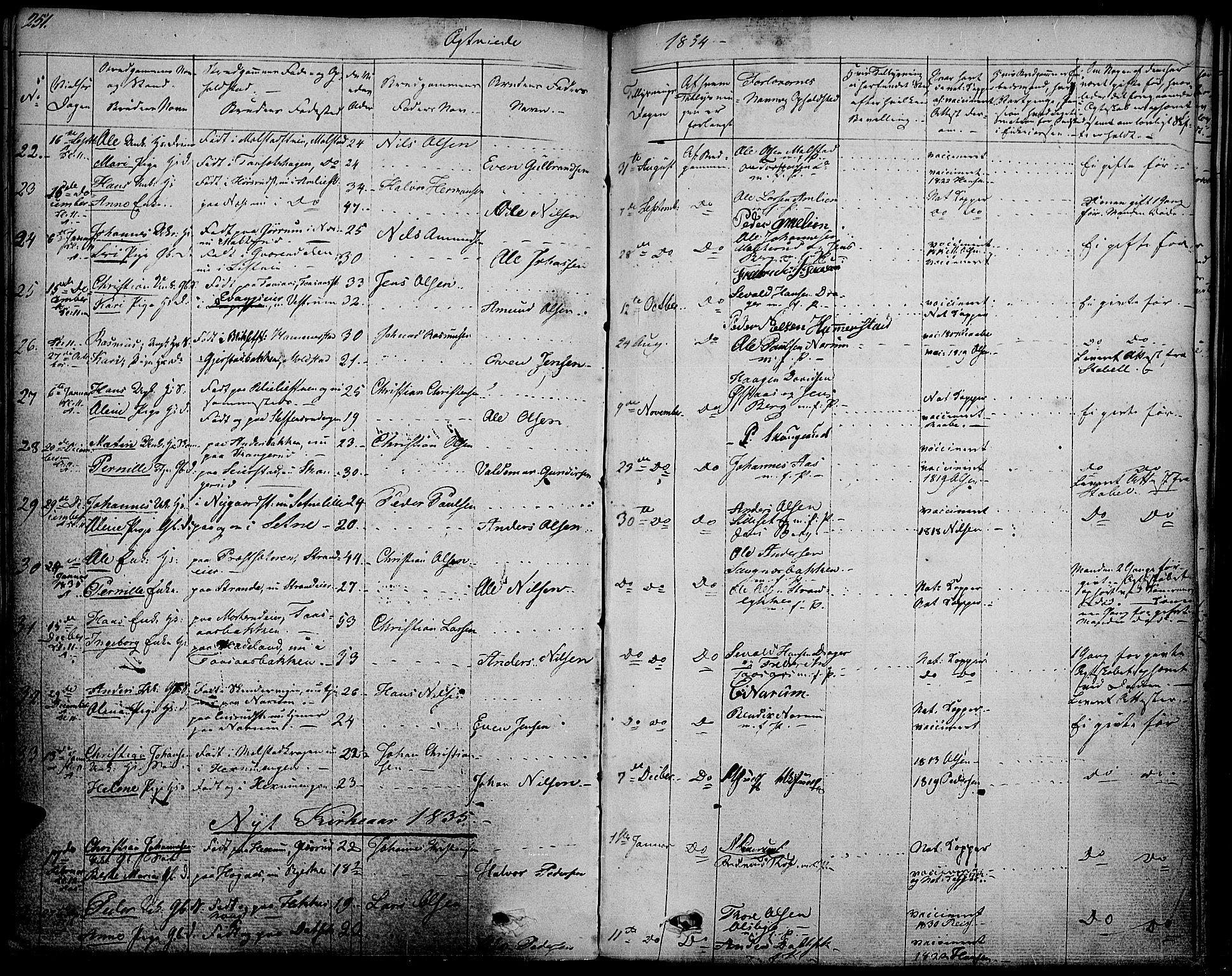 SAH, Vestre Toten prestekontor, Ministerialbok nr. 2, 1825-1837, s. 251
