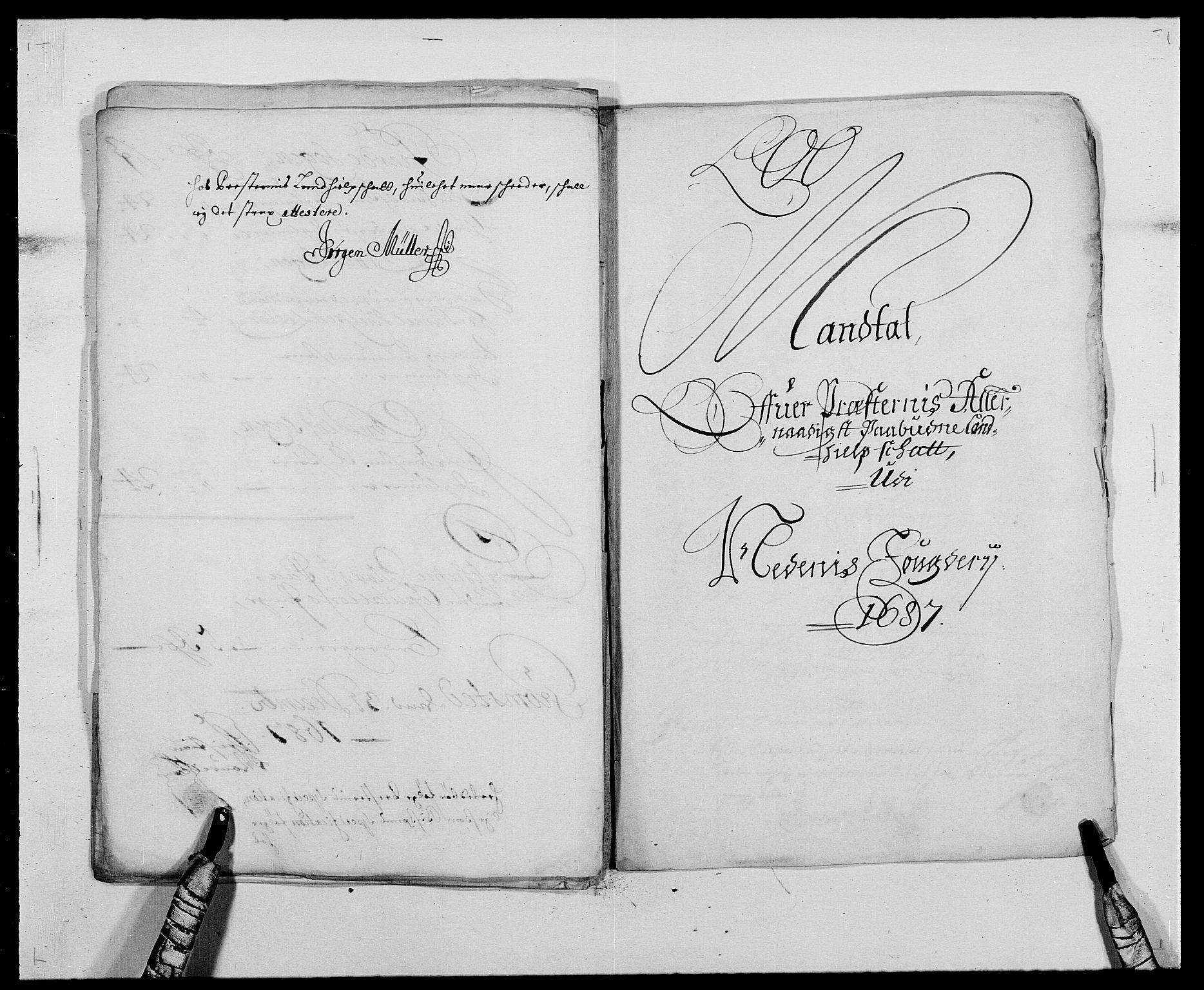 RA, Rentekammeret inntil 1814, Reviderte regnskaper, Fogderegnskap, R39/L2309: Fogderegnskap Nedenes, 1684-1689, s. 132
