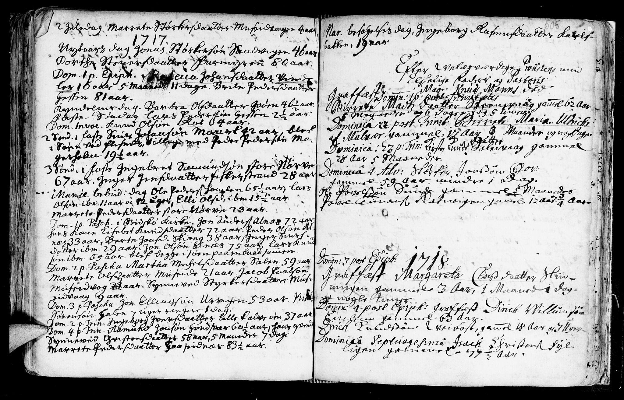 SAT, Ministerialprotokoller, klokkerbøker og fødselsregistre - Møre og Romsdal, 528/L0390: Ministerialbok nr. 528A01, 1698-1739, s. 504-505