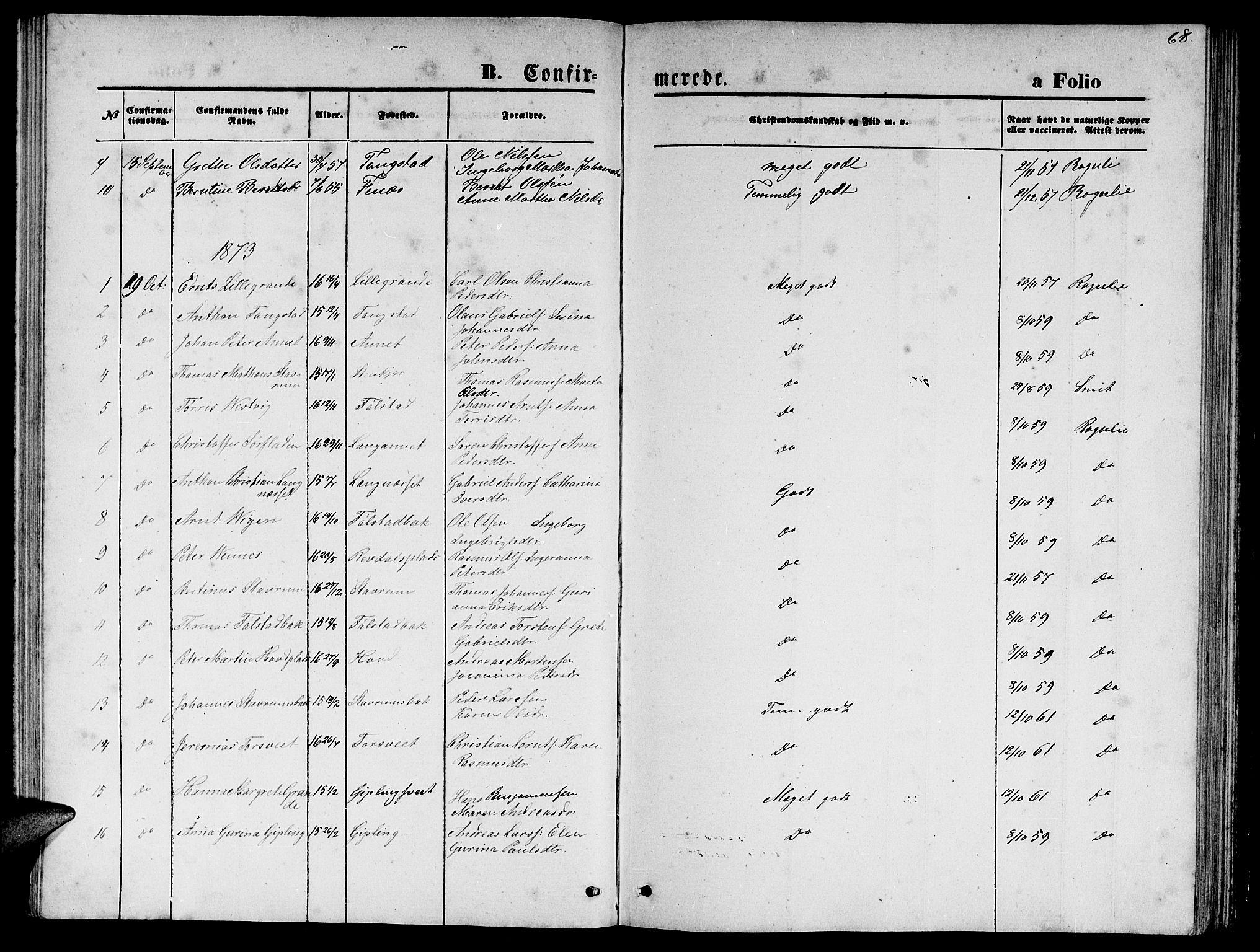 SAT, Ministerialprotokoller, klokkerbøker og fødselsregistre - Nord-Trøndelag, 744/L0422: Klokkerbok nr. 744C01, 1871-1885, s. 68