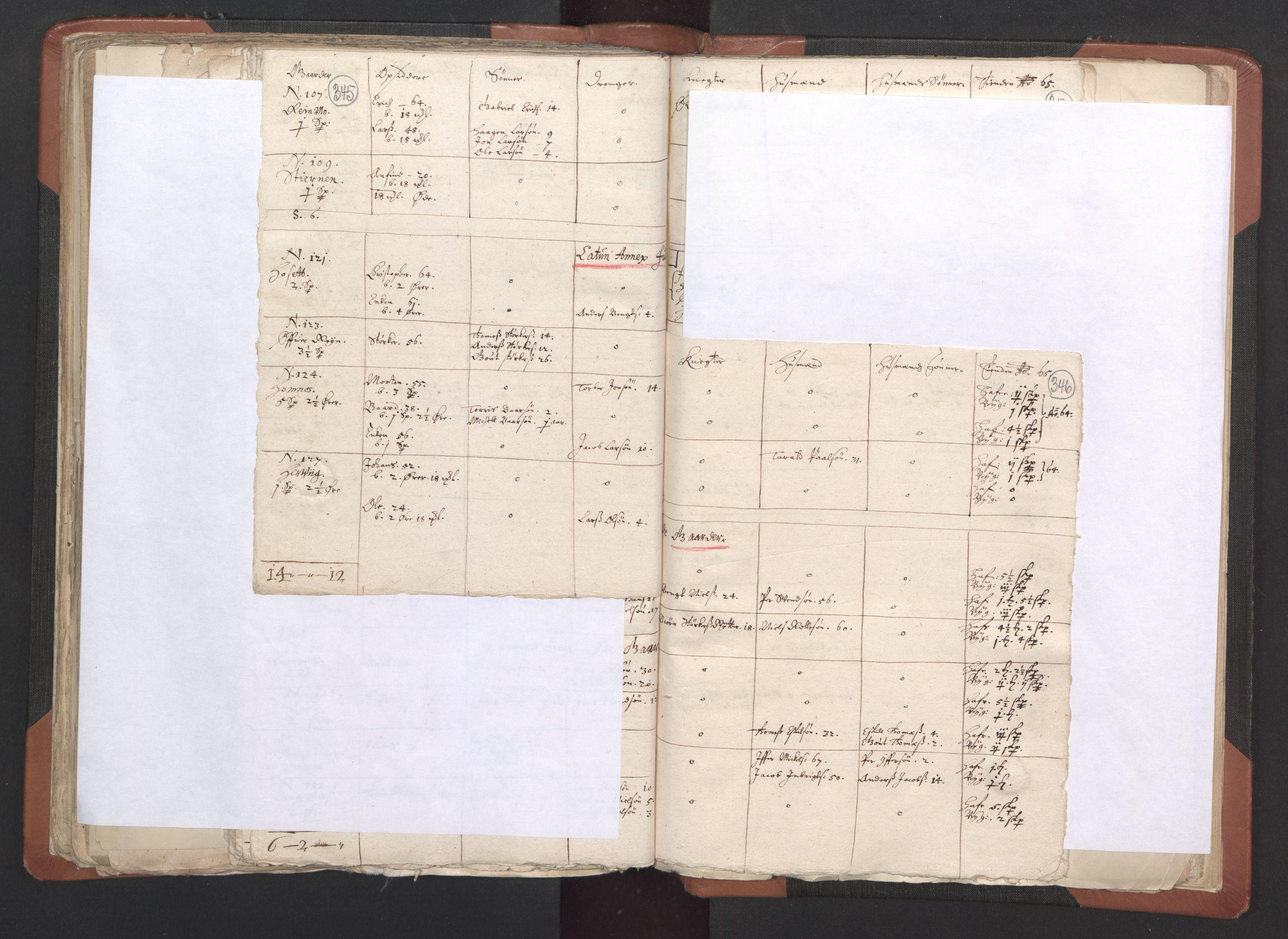RA, Sogneprestenes manntall 1664-1666, nr. 33: Innherad prosti, 1664-1666, s. 345-346