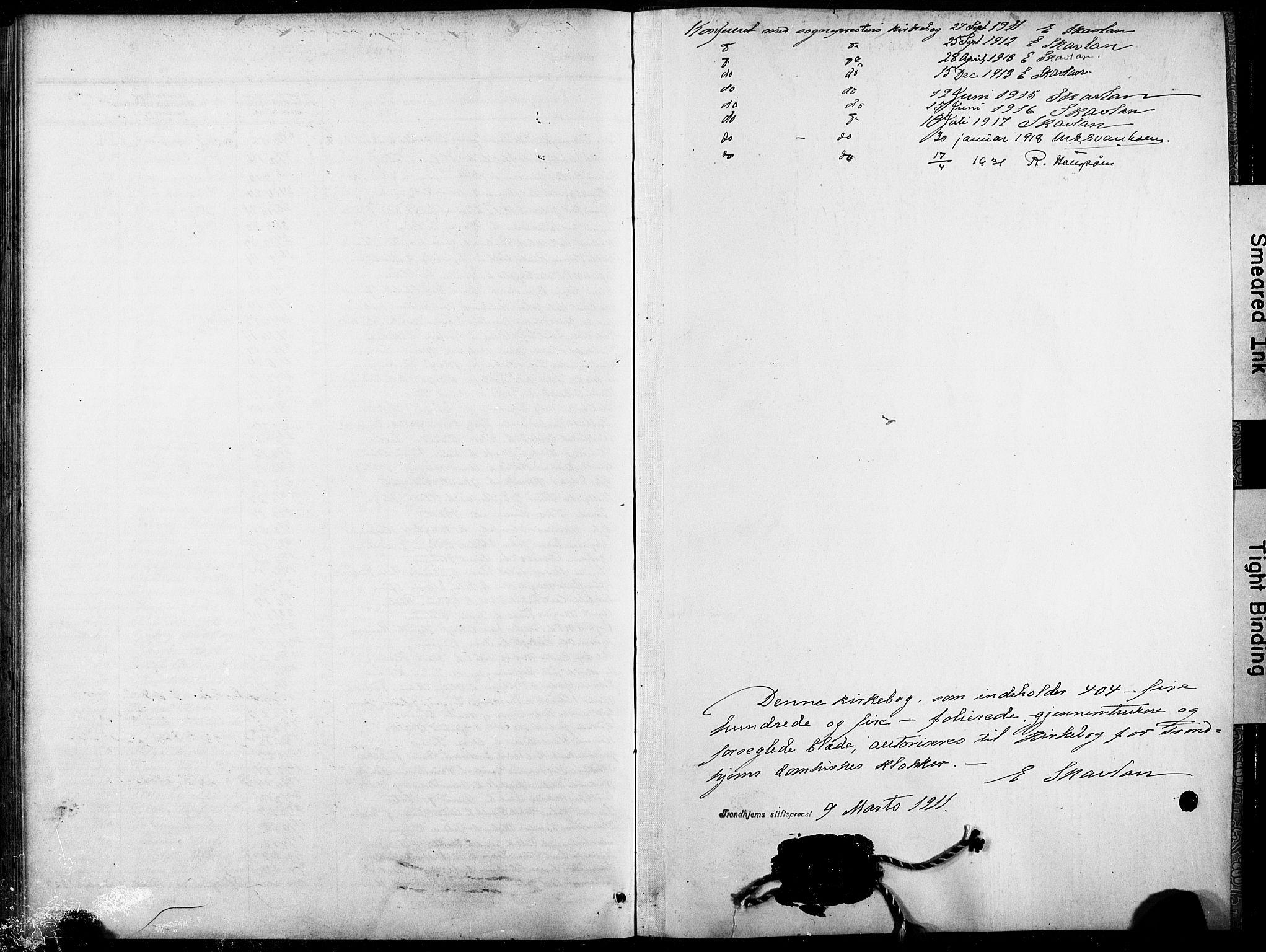 SAT, Ministerialprotokoller, klokkerbøker og fødselsregistre - Sør-Trøndelag, 601/L0096: Klokkerbok nr. 601C14, 1911-1931