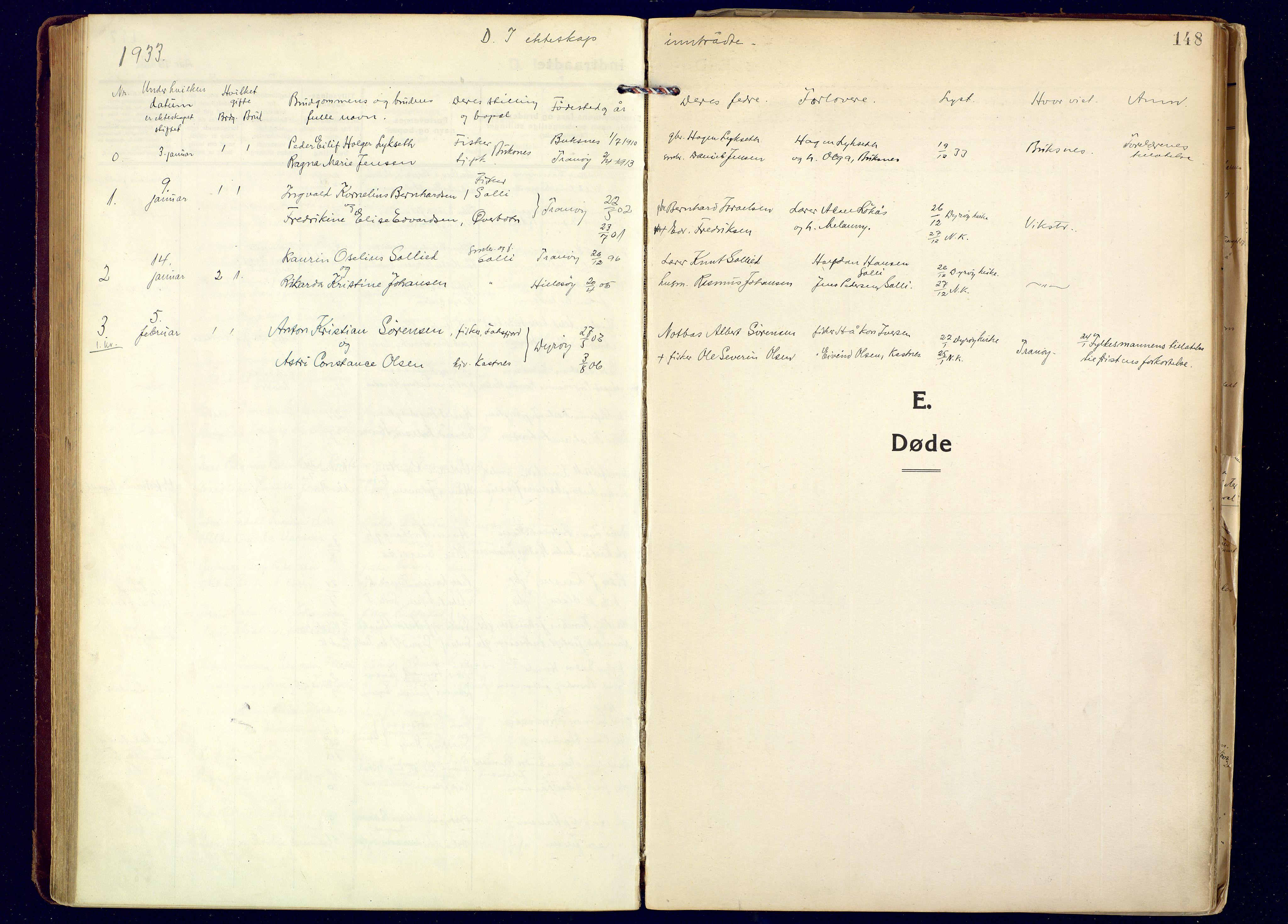 SATØ, Tranøy sokneprestkontor, I/Ia/Iaa: Ministerialbok nr. 16, 1919-1932, s. 148