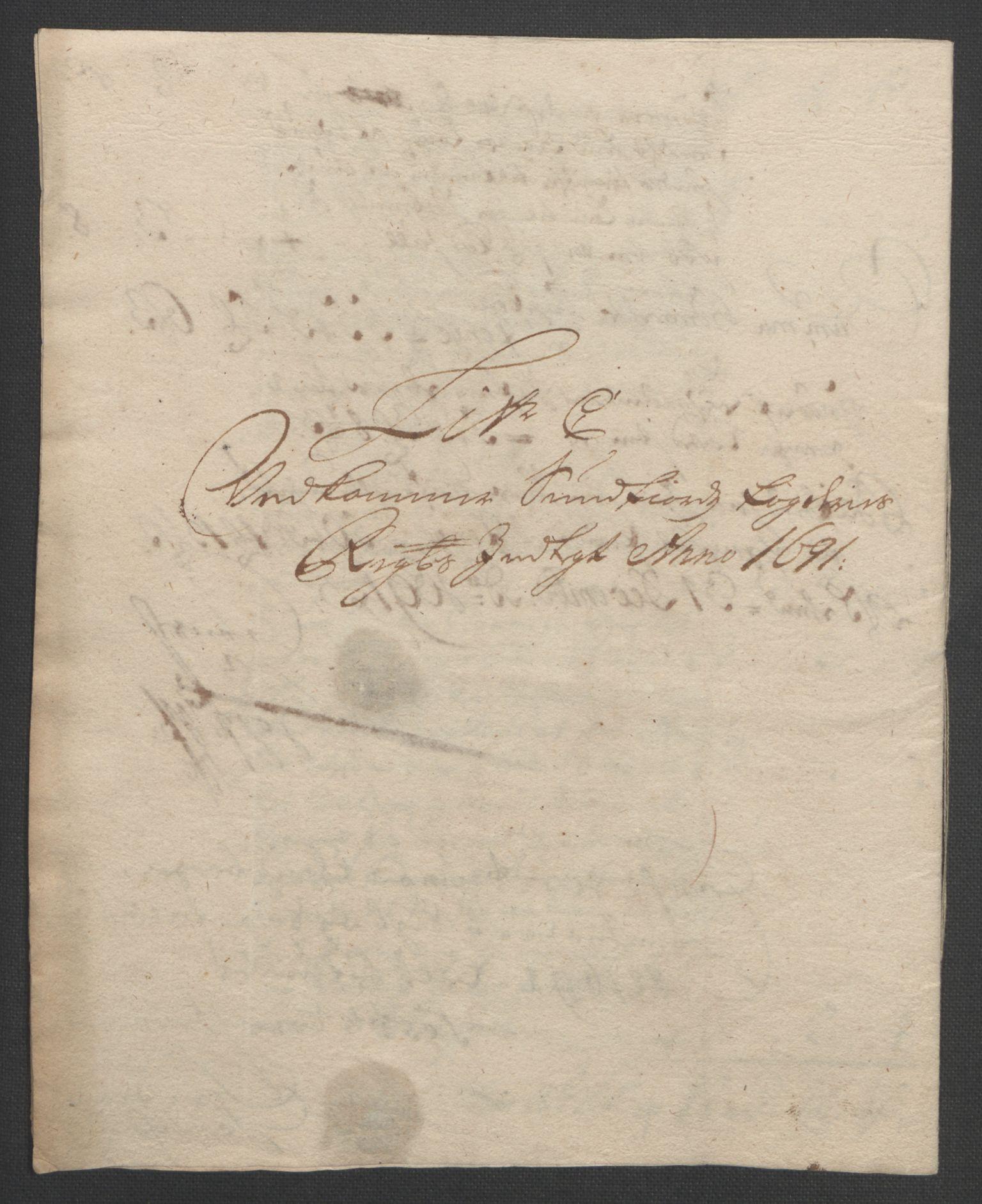 RA, Rentekammeret inntil 1814, Reviderte regnskaper, Fogderegnskap, R53/L3420: Fogderegnskap Sunn- og Nordfjord, 1691-1692, s. 85