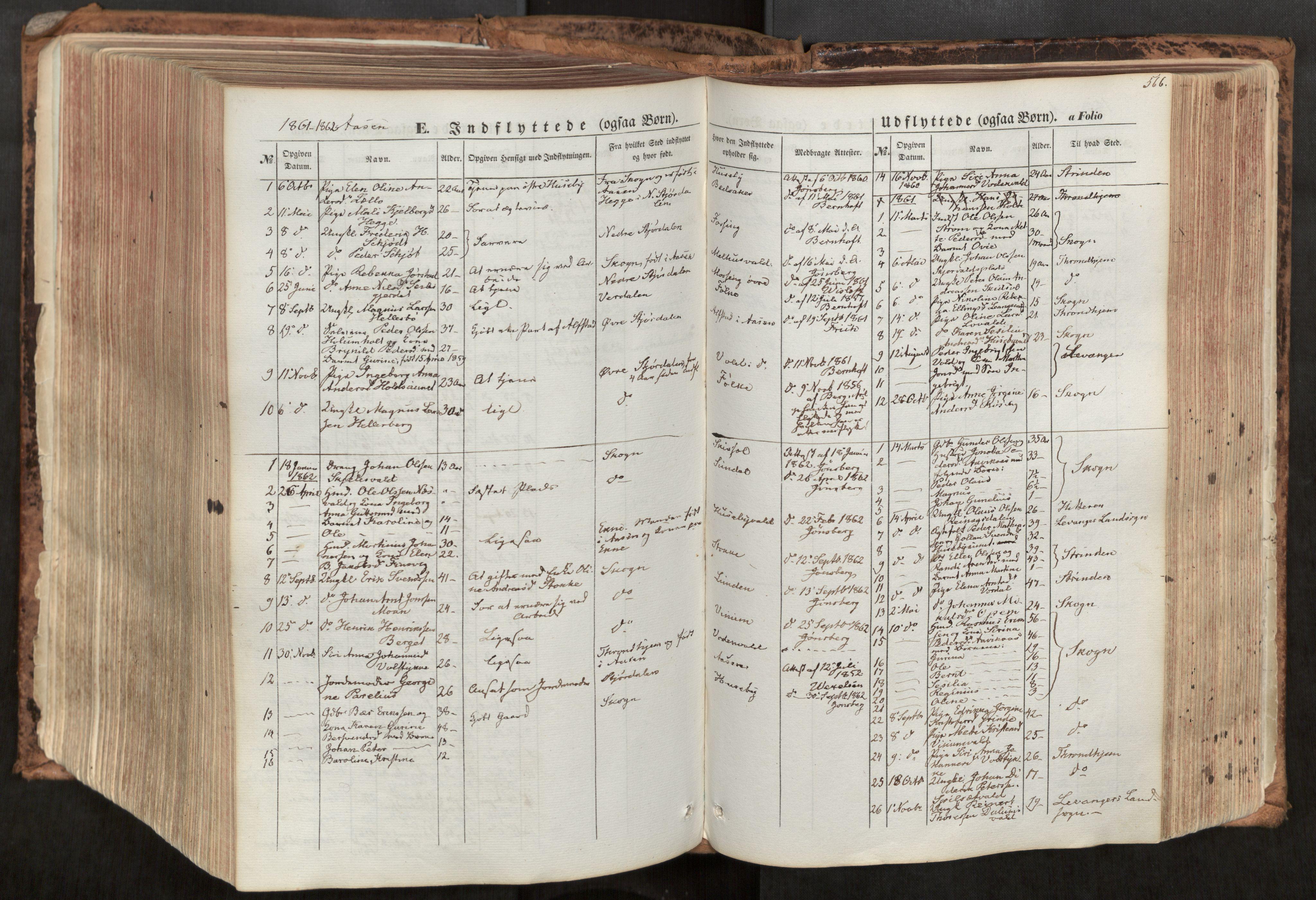 SAT, Ministerialprotokoller, klokkerbøker og fødselsregistre - Nord-Trøndelag, 713/L0116: Ministerialbok nr. 713A07, 1850-1877, s. 566