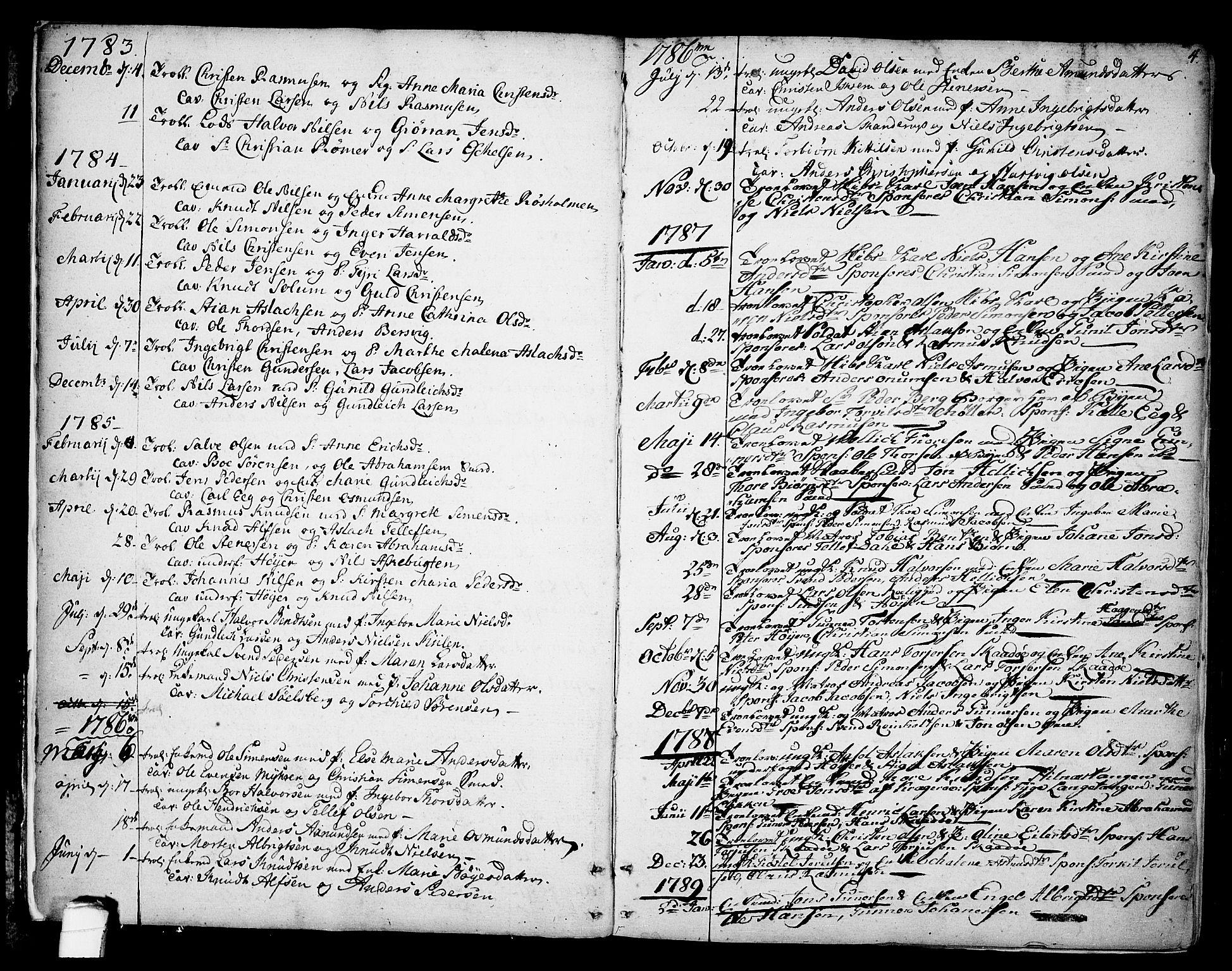 SAKO, Kragerø kirkebøker, F/Fa/L0002: Ministerialbok nr. 2, 1767-1802, s. 4