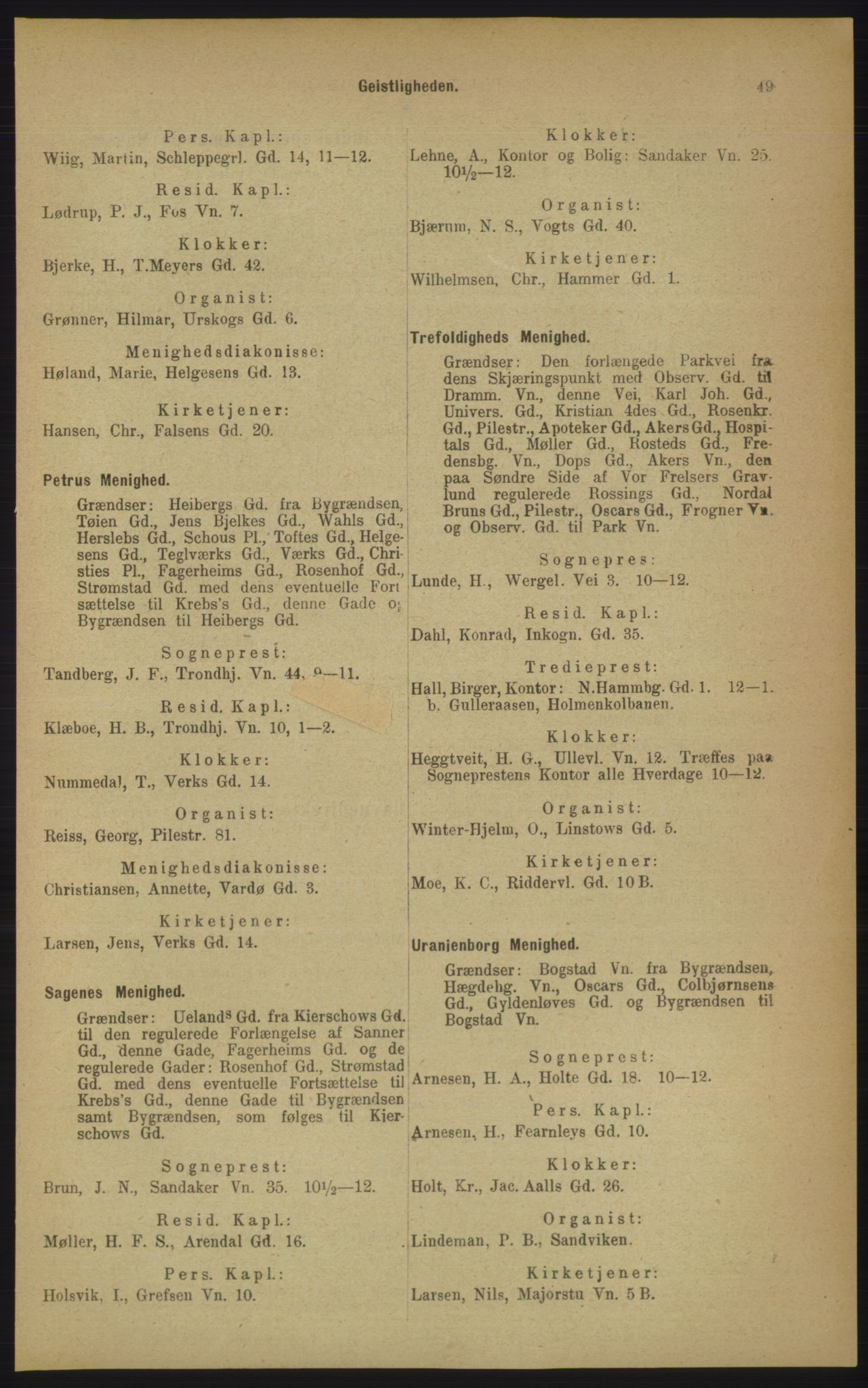 PUBL, Kristiania/Oslo adressebok, 1906, s. 49