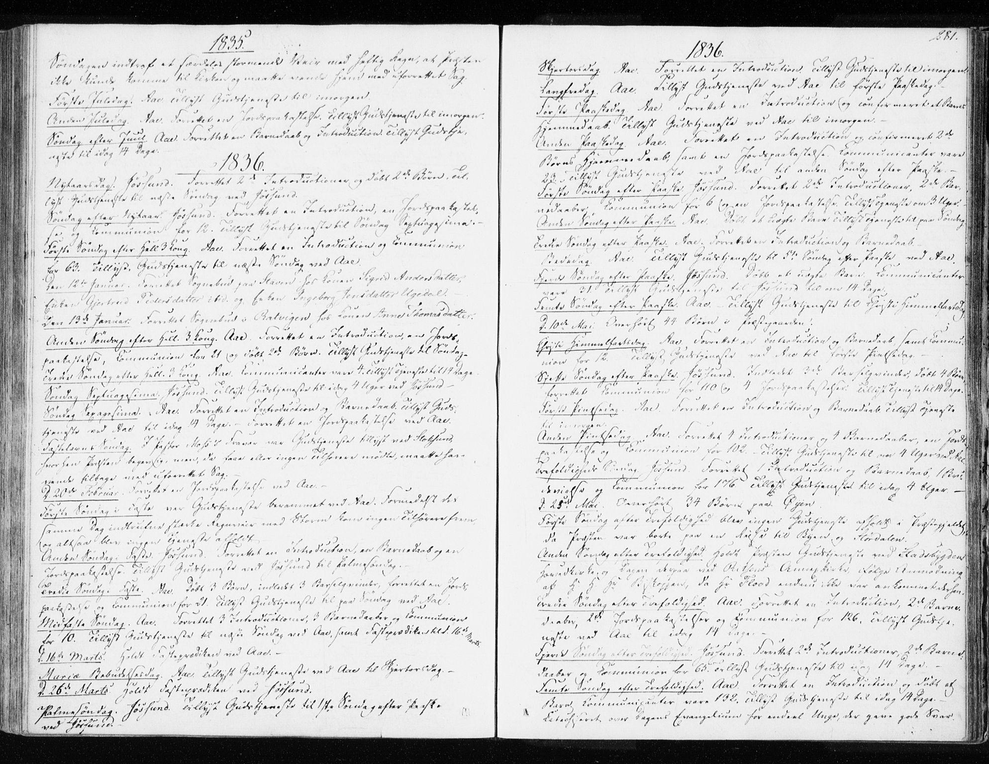 SAT, Ministerialprotokoller, klokkerbøker og fødselsregistre - Sør-Trøndelag, 655/L0676: Ministerialbok nr. 655A05, 1830-1847, s. 281