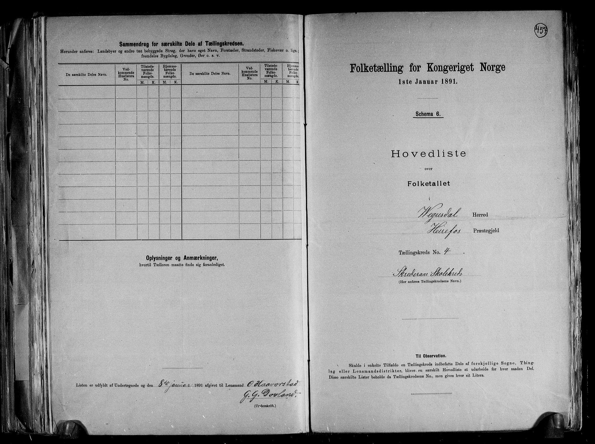 RA, Folketelling 1891 for 0934 Vegusdal herred, 1891, s. 11