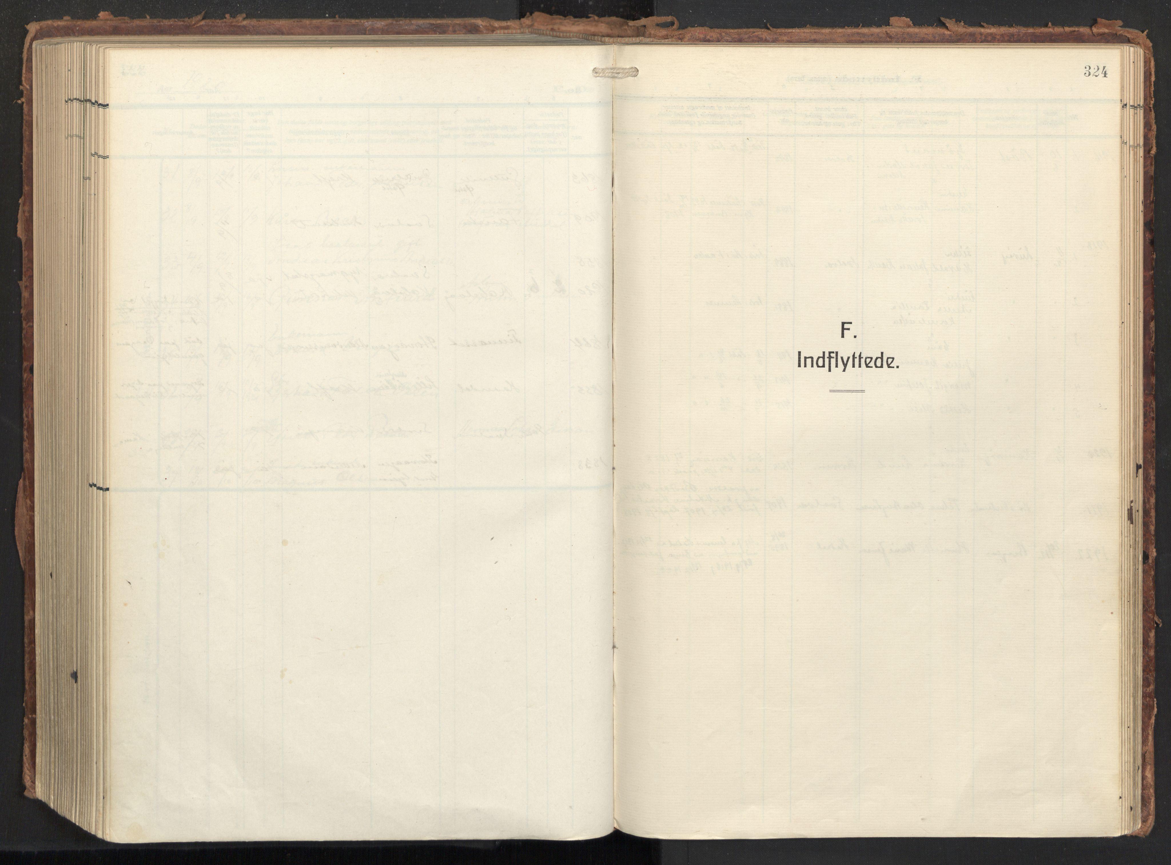 SAT, Ministerialprotokoller, klokkerbøker og fødselsregistre - Nordland, 874/L1064: Ministerialbok nr. 874A08, 1915-1926, s. 324