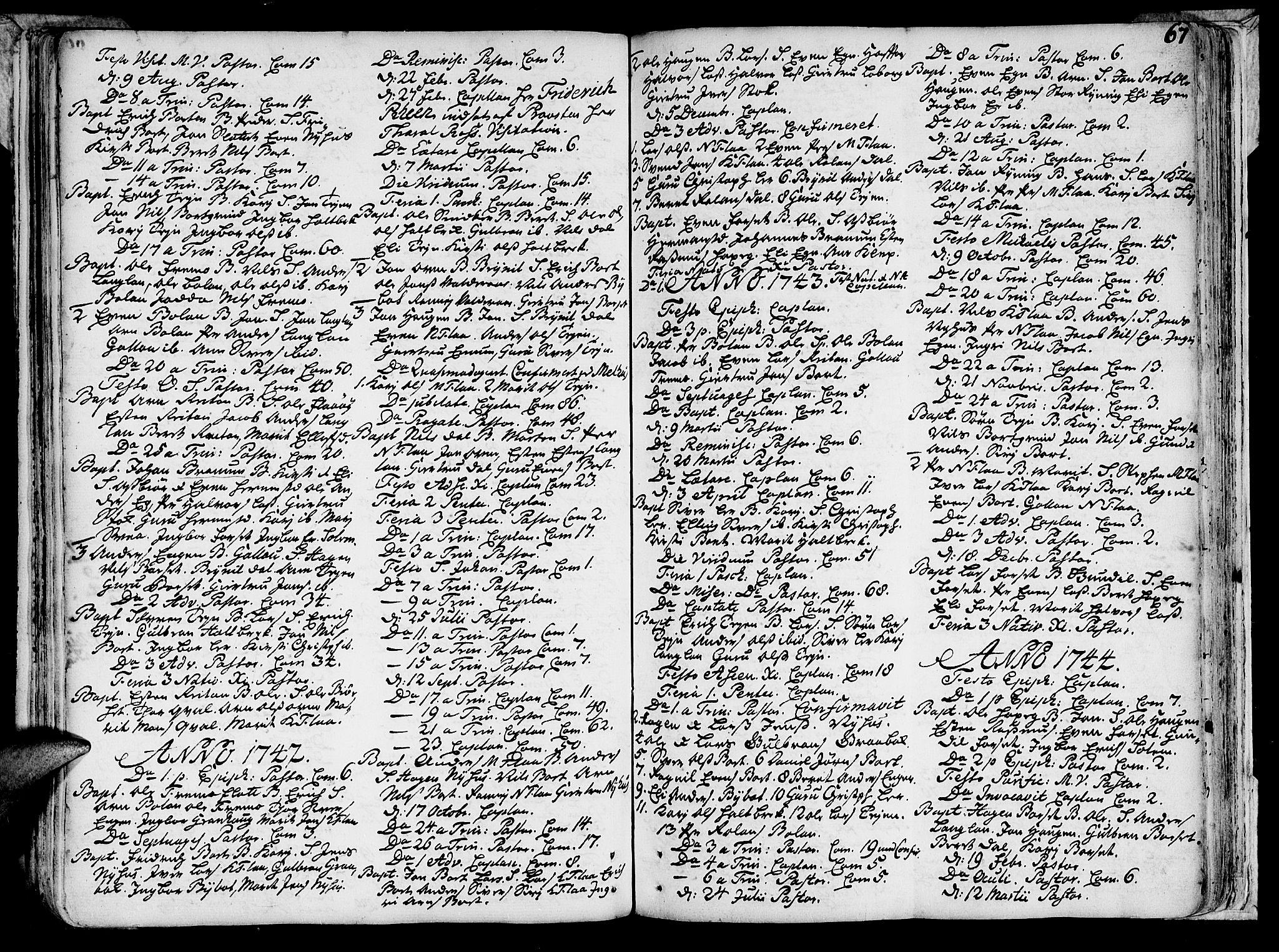 SAT, Ministerialprotokoller, klokkerbøker og fødselsregistre - Sør-Trøndelag, 691/L1058: Ministerialbok nr. 691A01 /2, 1740-1767, s. 67