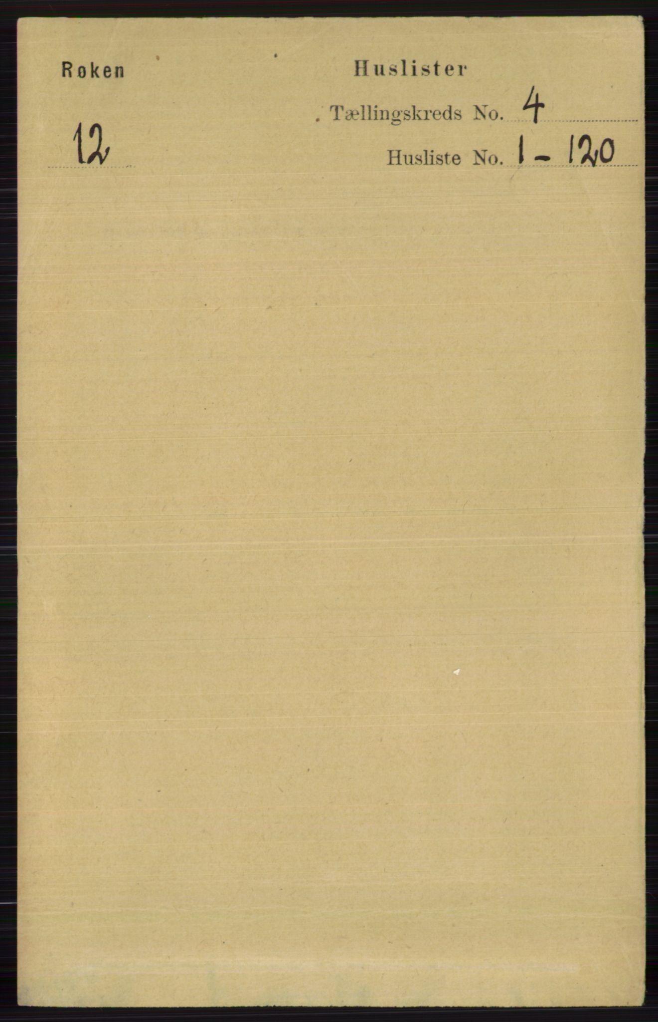 RA, Folketelling 1891 for 0627 Røyken herred, 1891, s. 1732