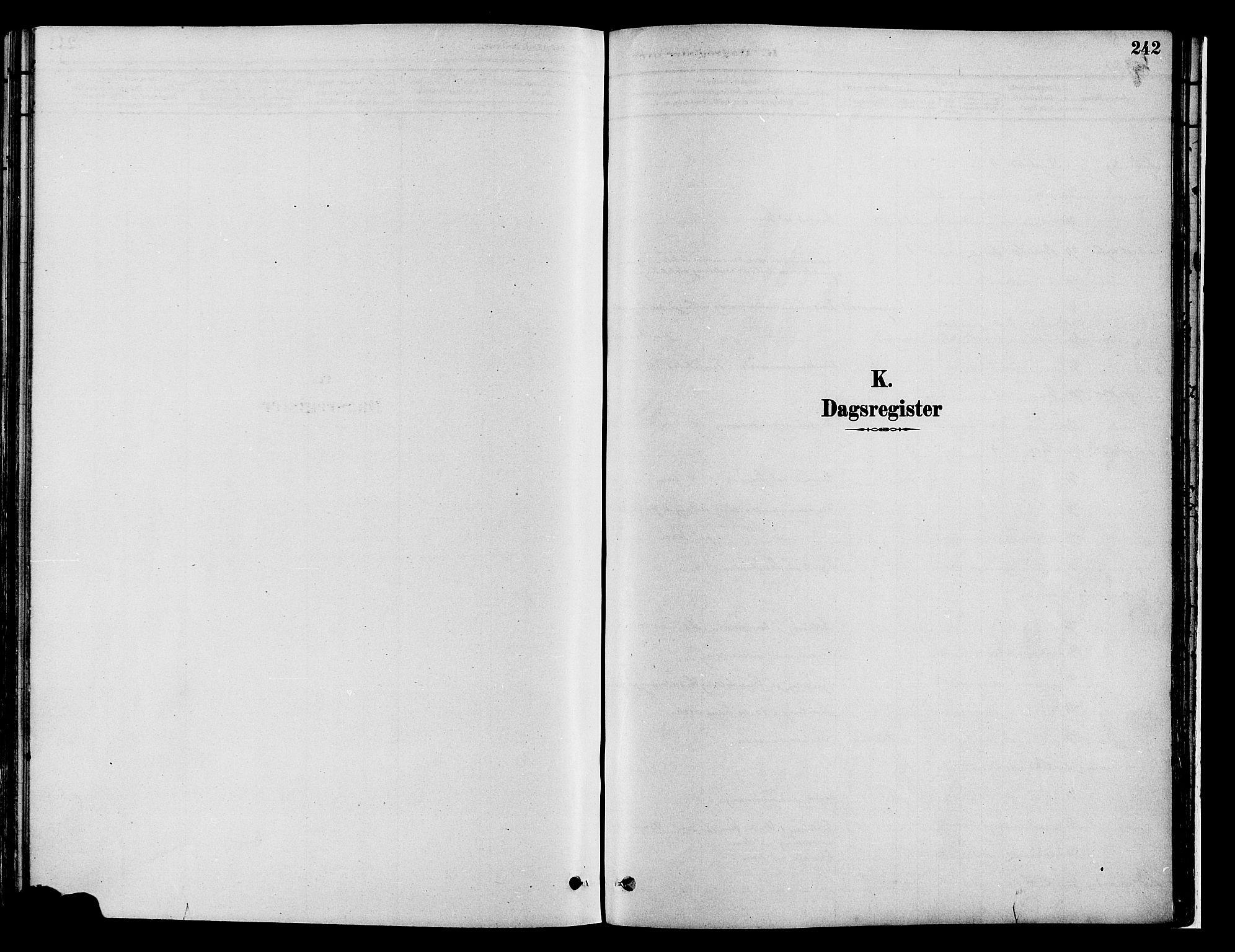 SAH, Gran prestekontor, Ministerialbok nr. 14, 1880-1889, s. 242