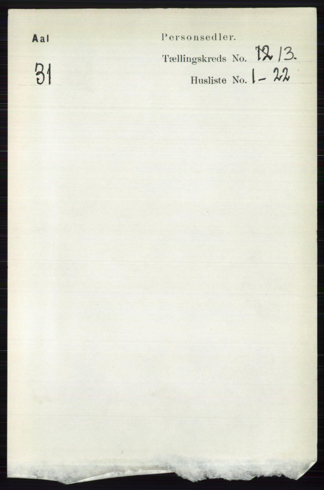 RA, Folketelling 1891 for 0619 Ål herred, 1891, s. 3257