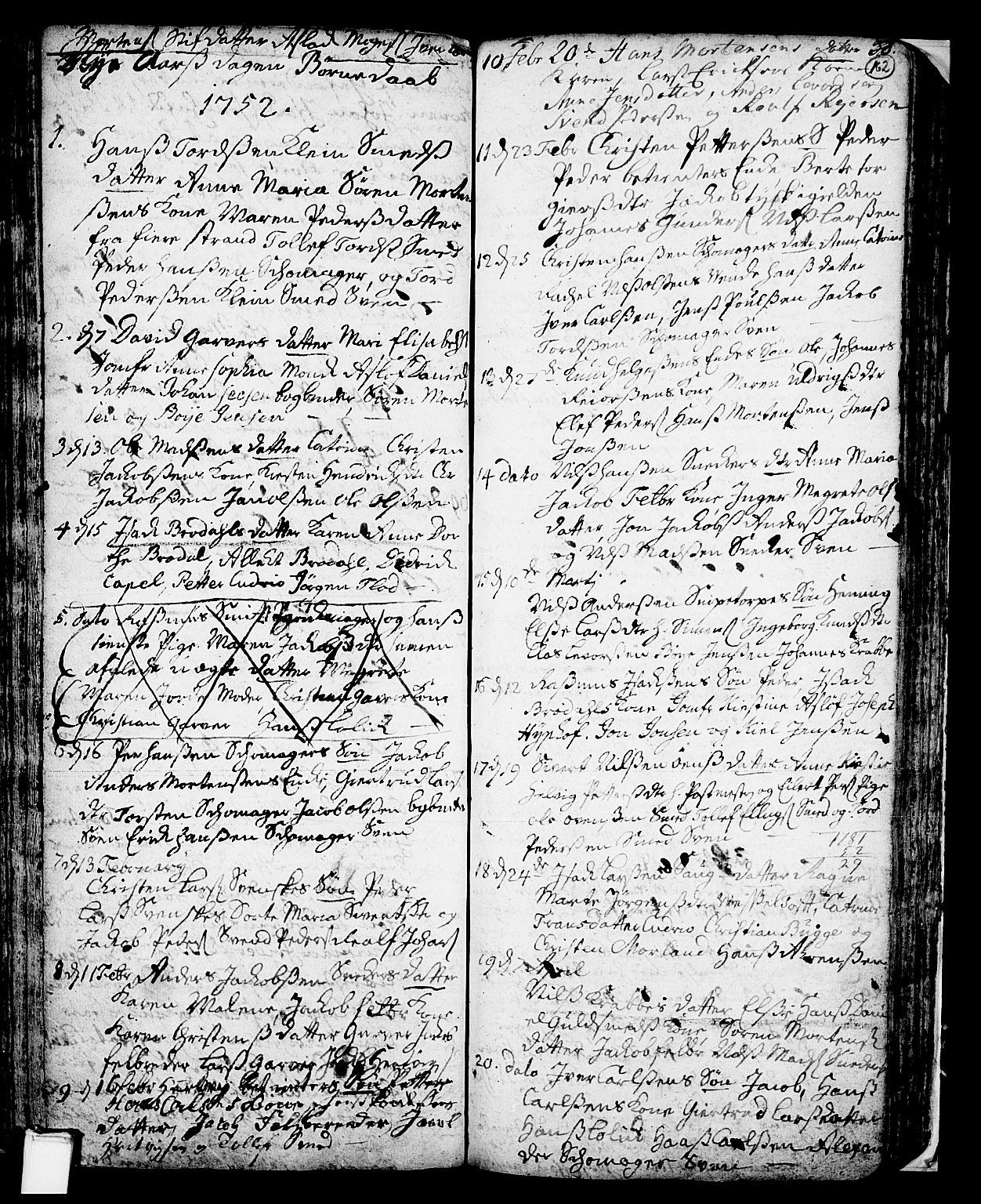 SAKO, Skien kirkebøker, F/Fa/L0002: Ministerialbok nr. 2, 1716-1757, s. 162