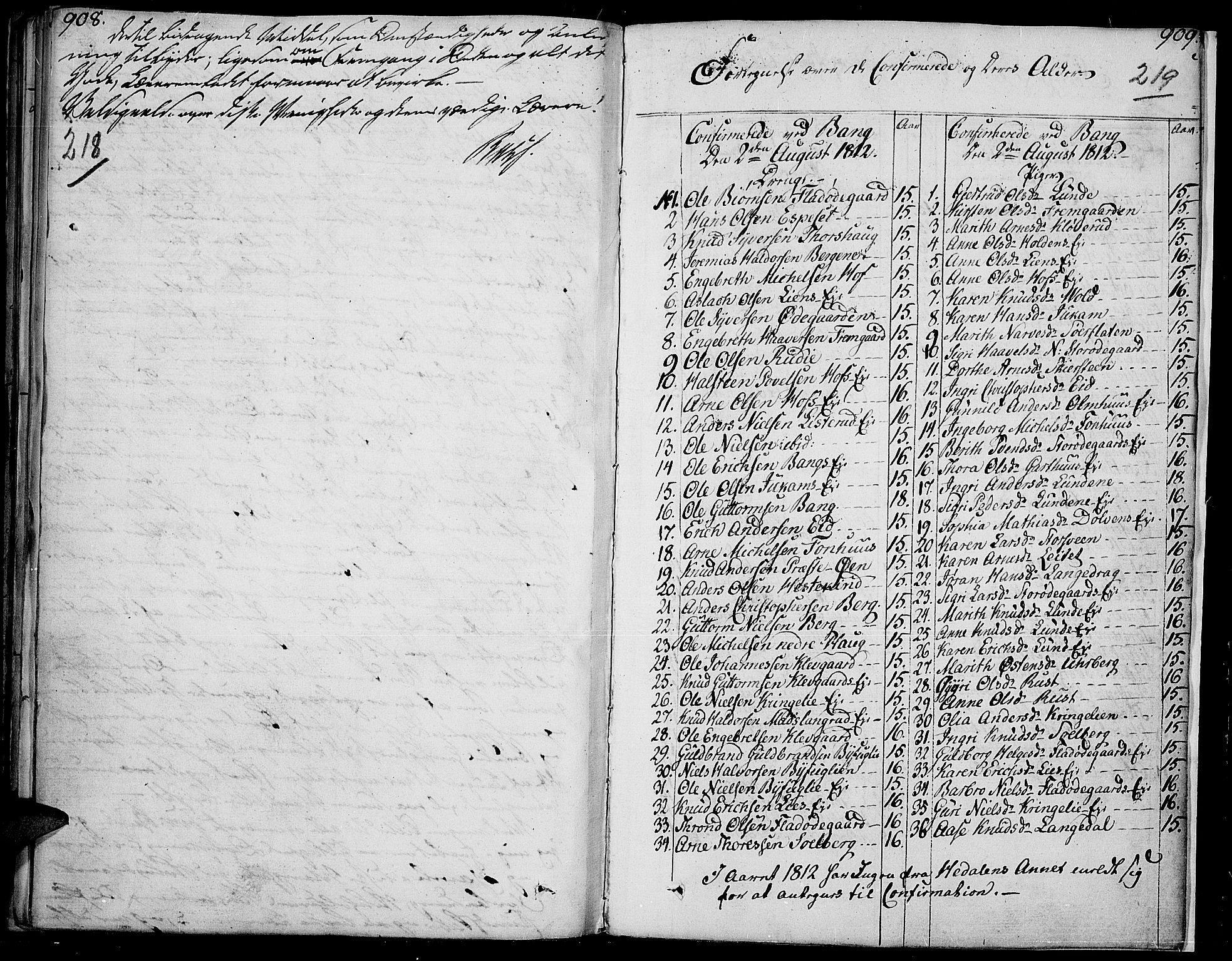 SAH, Sør-Aurdal prestekontor, Ministerialbok nr. 1, 1807-1815, s. 218-219