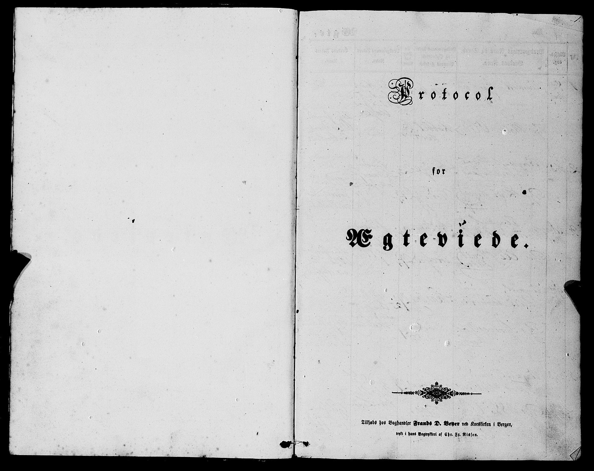 SAB, Fjell sokneprestembete, H/Haa: Ministerialbok nr. A 6, 1849-1877, s. 1
