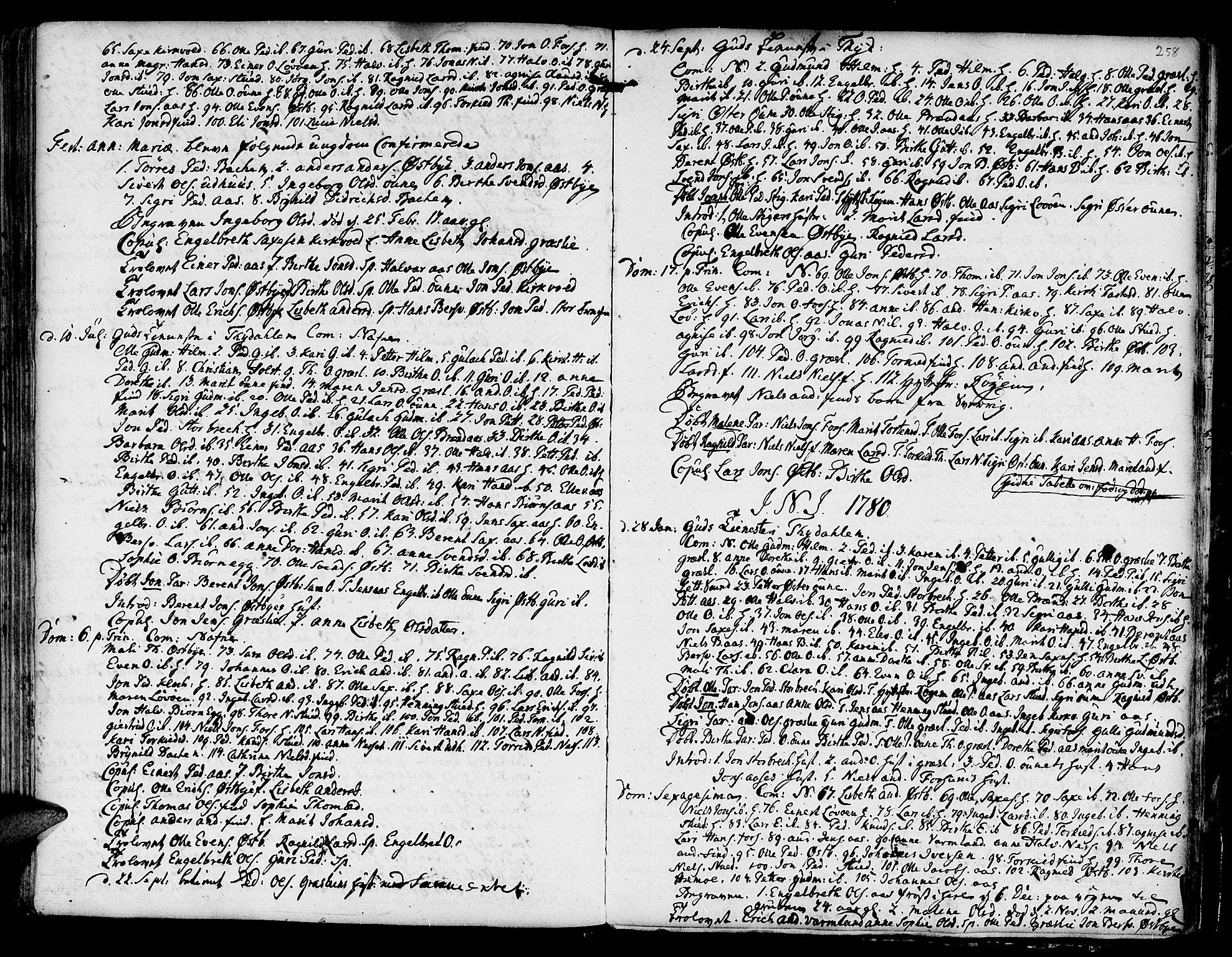 SAT, Ministerialprotokoller, klokkerbøker og fødselsregistre - Sør-Trøndelag, 695/L1139: Ministerialbok nr. 695A02 /2, 1776-1790, s. 258