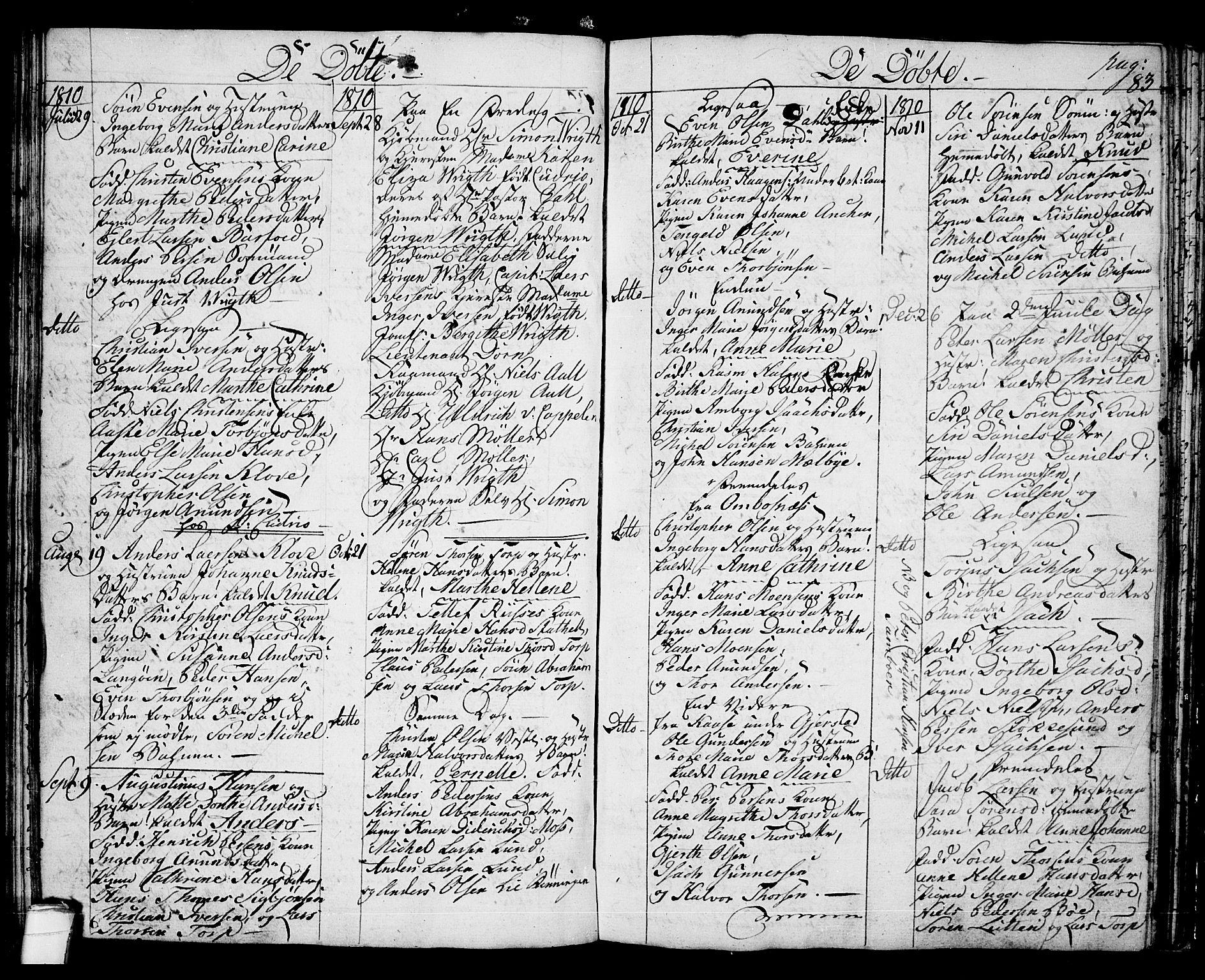SAKO, Langesund kirkebøker, G/Ga/L0002: Klokkerbok nr. 2, 1801-1815, s. 83