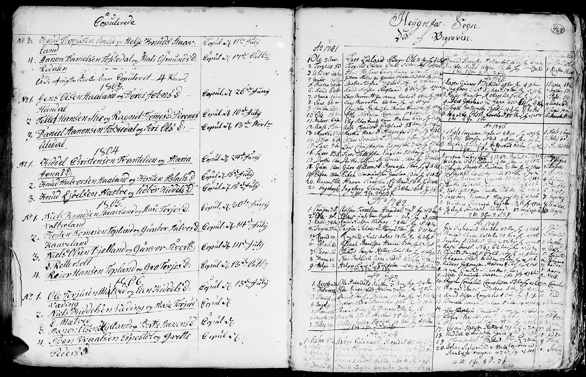 SAK, Hommedal sokneprestkontor, F/Fa/Fab/L0002: Ministerialbok nr. A 2 /3, 1740-1821, s. 468