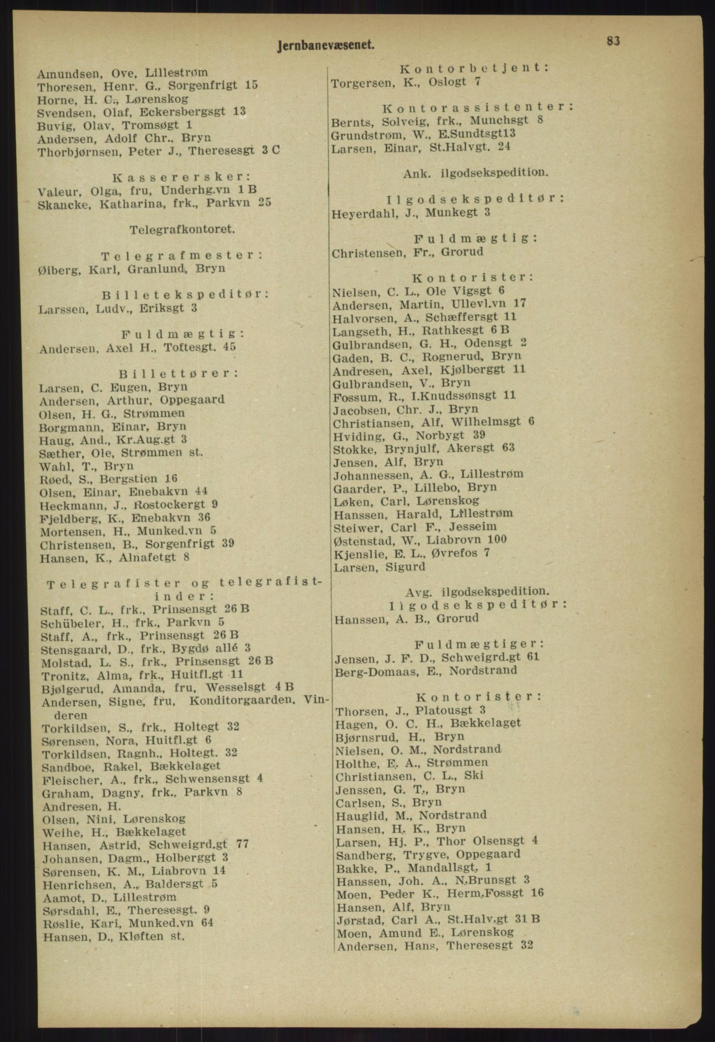 PUBL, Kristiania/Oslo adressebok, 1918, s. 90