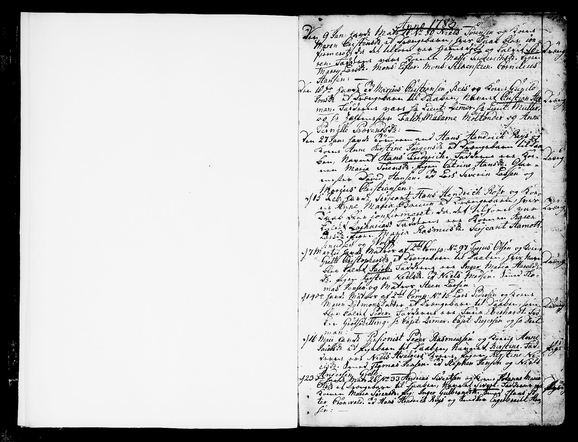 SAKO, Stavern kirkebøker, F/Fa/L0002: Ministerialbok nr. 2, 1783-1809, s. 1