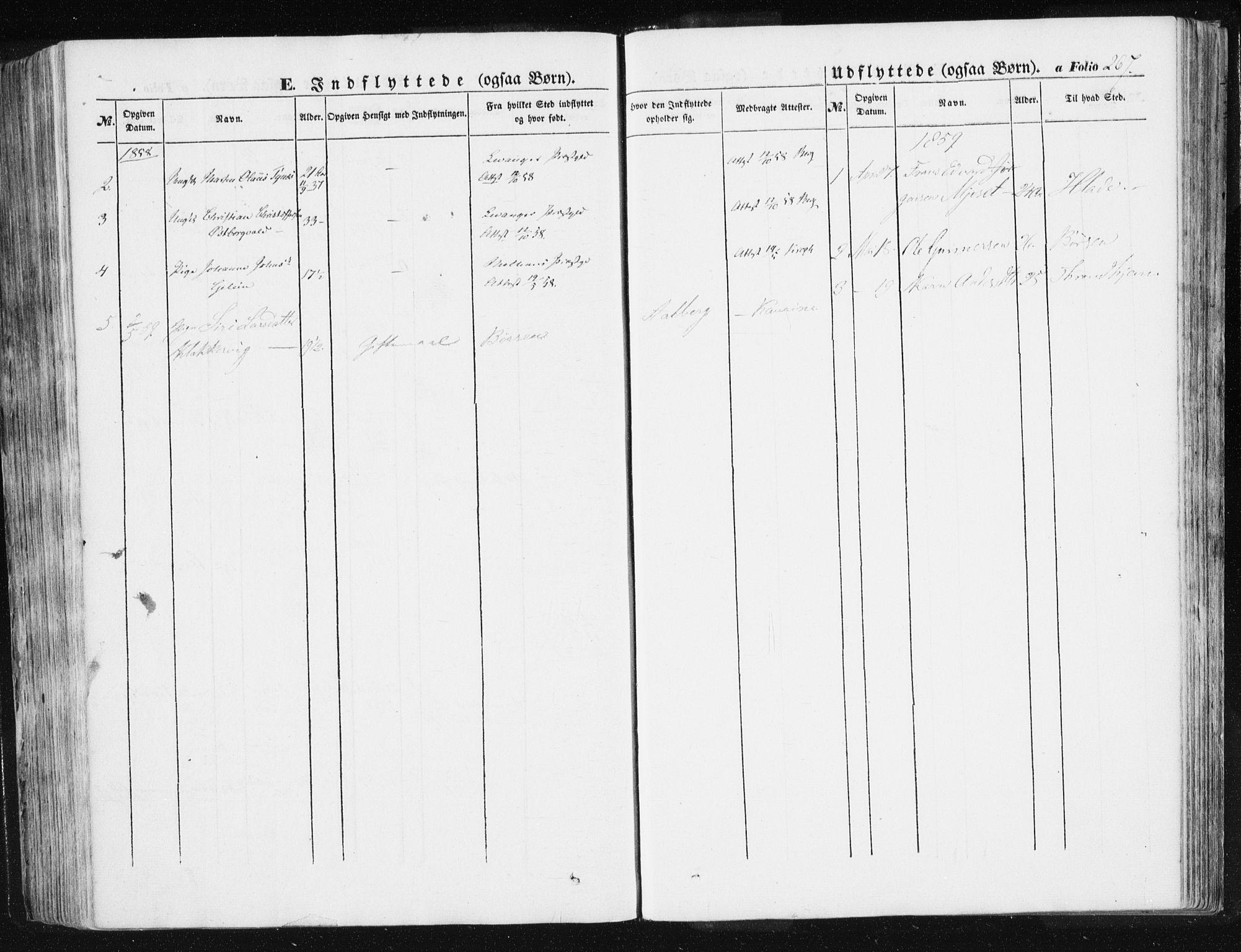 SAT, Ministerialprotokoller, klokkerbøker og fødselsregistre - Sør-Trøndelag, 612/L0376: Ministerialbok nr. 612A08, 1846-1859, s. 267