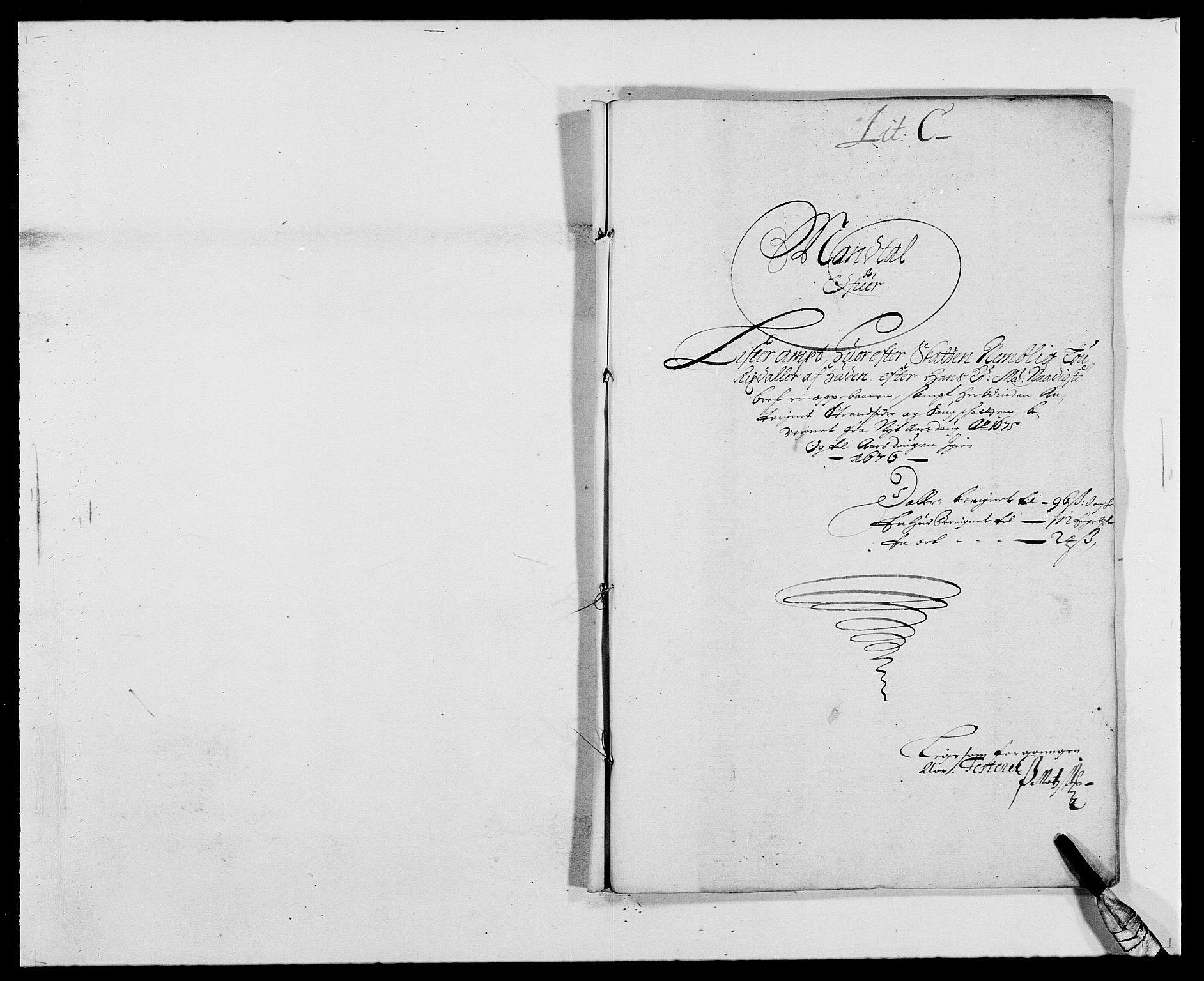 RA, Rentekammeret inntil 1814, Reviderte regnskaper, Fogderegnskap, R41/L2529: Fogderegnskap Lista, 1675-1676, s. 49