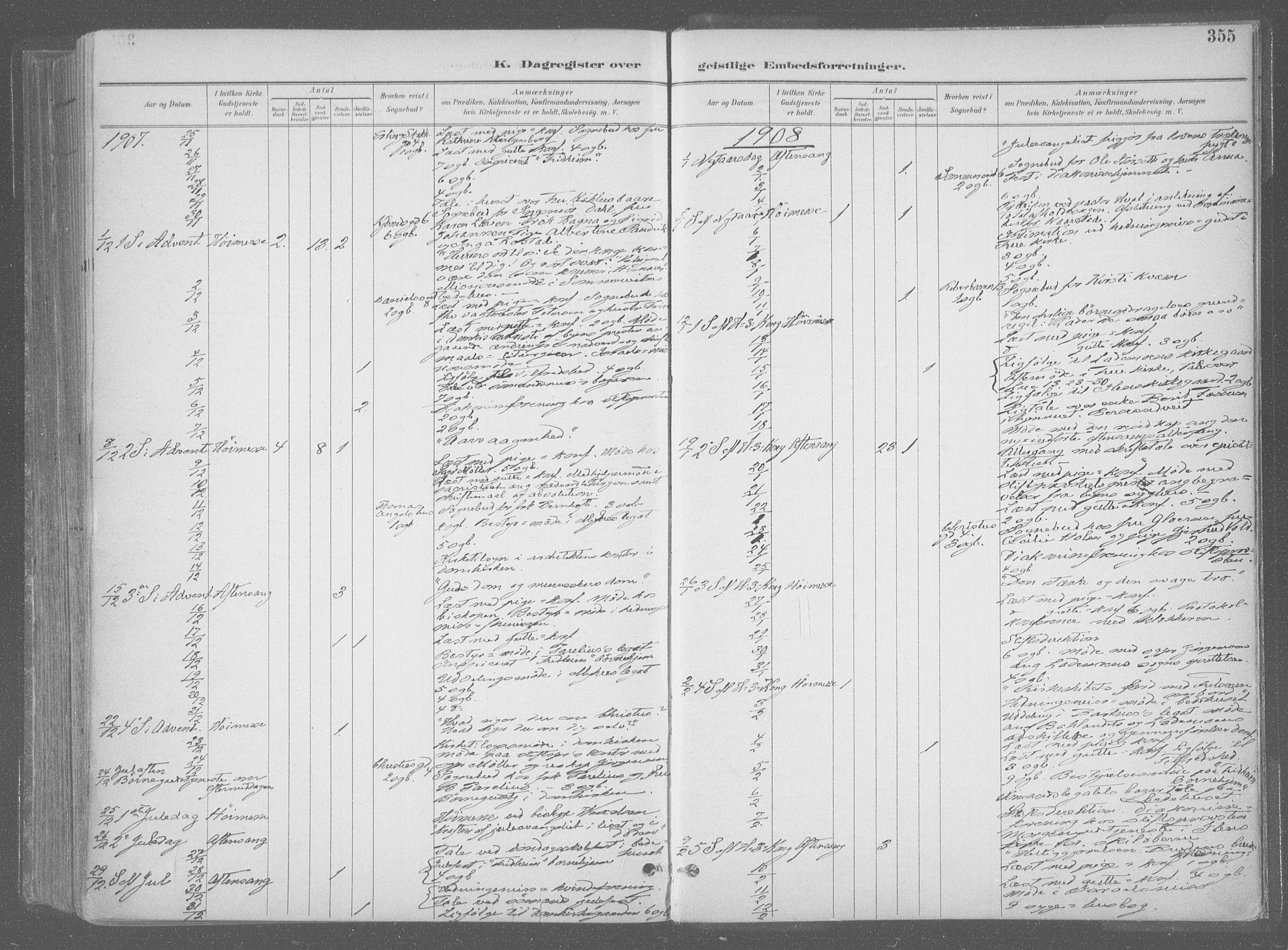 SAT, Ministerialprotokoller, klokkerbøker og fødselsregistre - Sør-Trøndelag, 601/L0064: Ministerialbok nr. 601A31, 1891-1911, s. 355