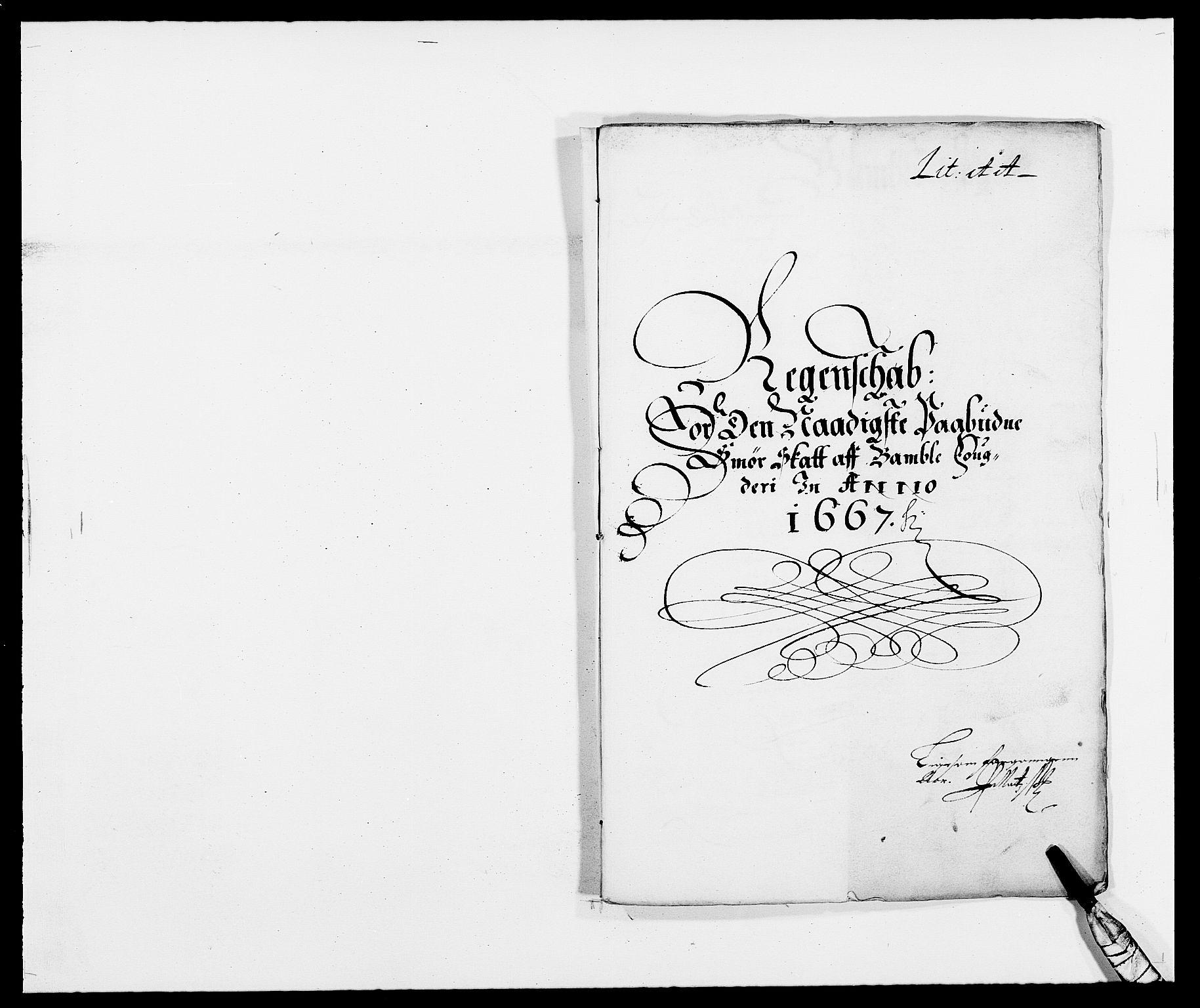 RA, Rentekammeret inntil 1814, Reviderte regnskaper, Fogderegnskap, R34/L2039: Fogderegnskap Bamble, 1662-1669, s. 224