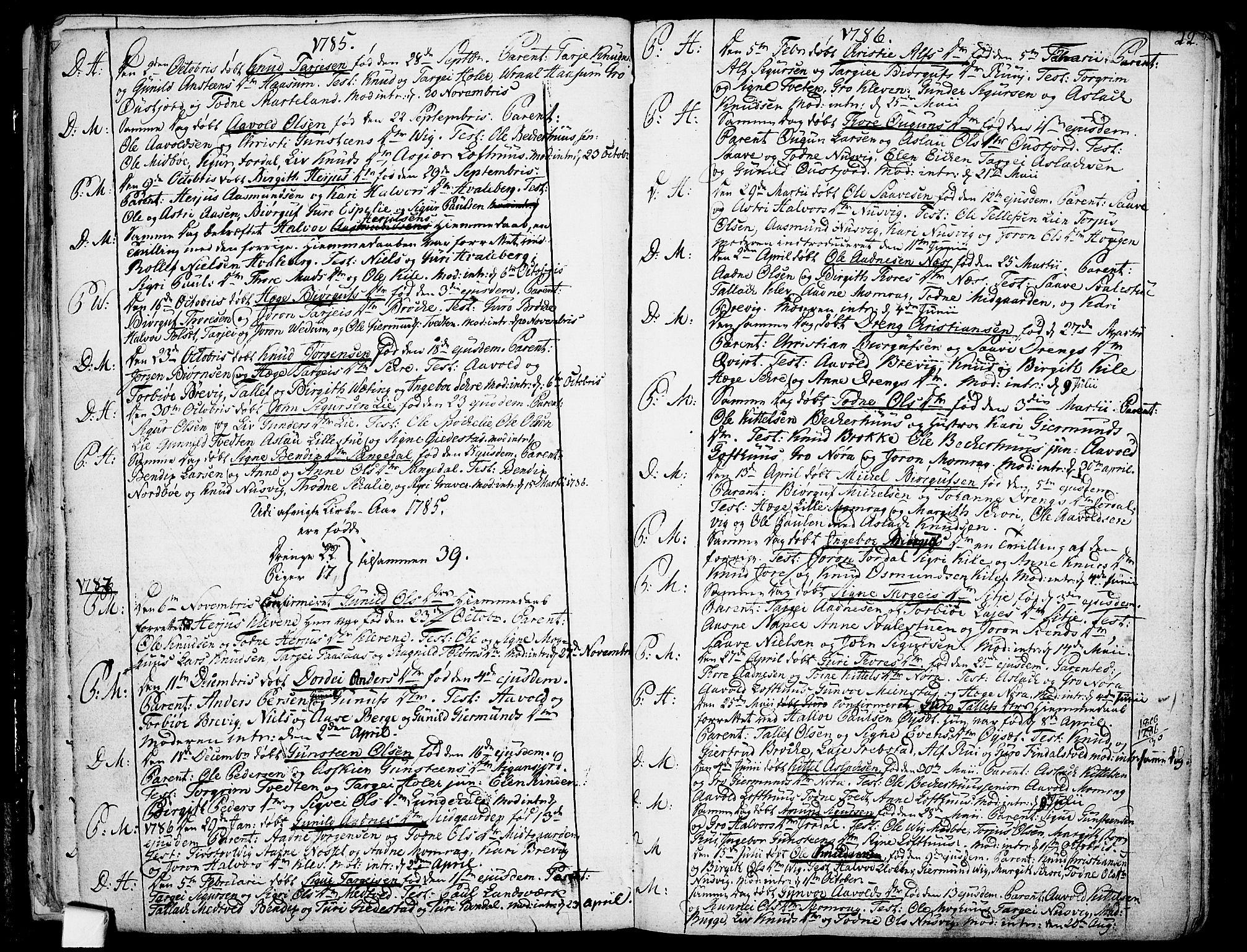 SAKO, Fyresdal kirkebøker, F/Fa/L0002: Ministerialbok nr. I 2, 1769-1814, s. 22