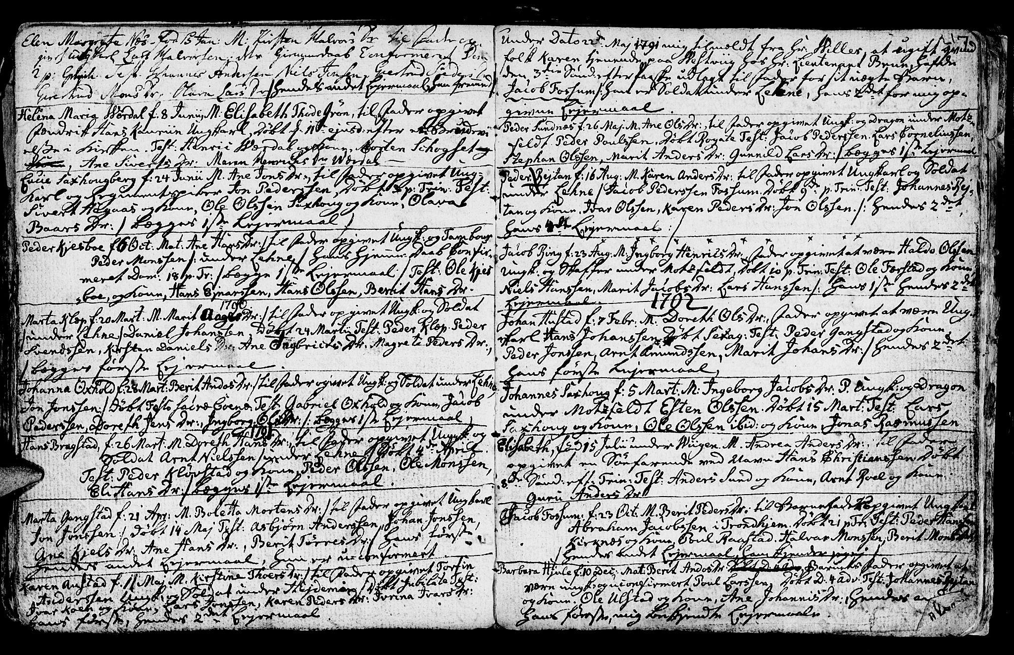 SAT, Ministerialprotokoller, klokkerbøker og fødselsregistre - Nord-Trøndelag, 730/L0273: Ministerialbok nr. 730A02, 1762-1802, s. 217