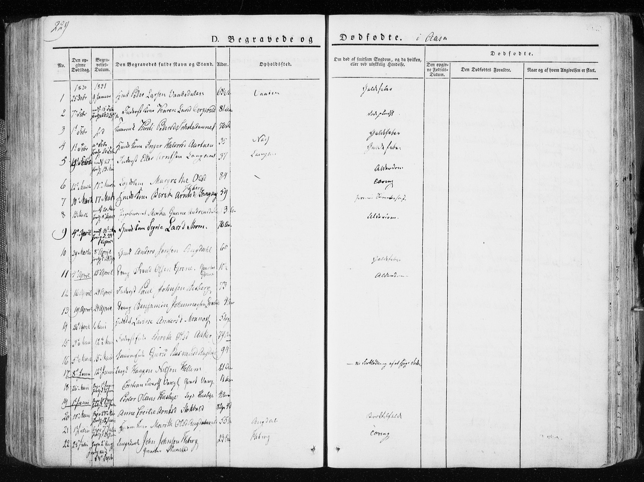 SAT, Ministerialprotokoller, klokkerbøker og fødselsregistre - Nord-Trøndelag, 713/L0114: Ministerialbok nr. 713A05, 1827-1839, s. 229